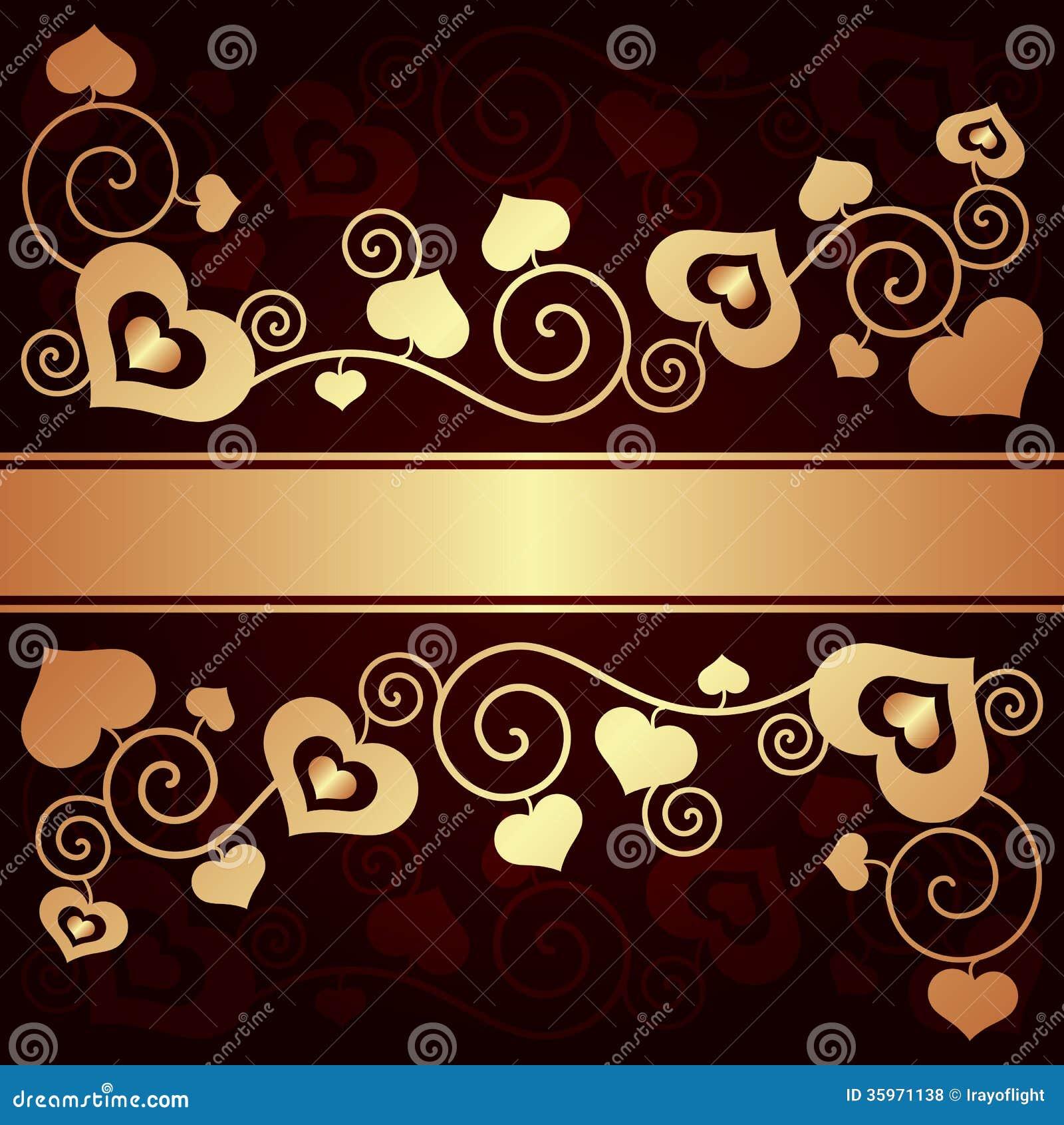 Fondo del día de tarjeta del día de San Valentín con los corazones