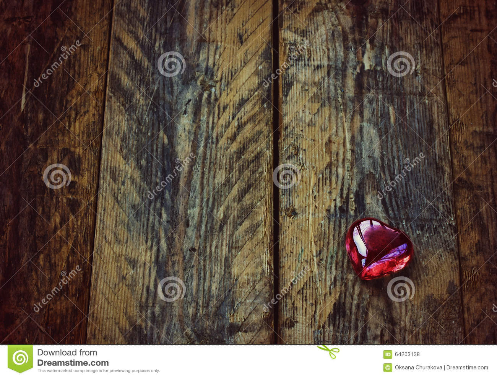 Fondo del día de tarjeta del día de San Valentín, corazón de cristal