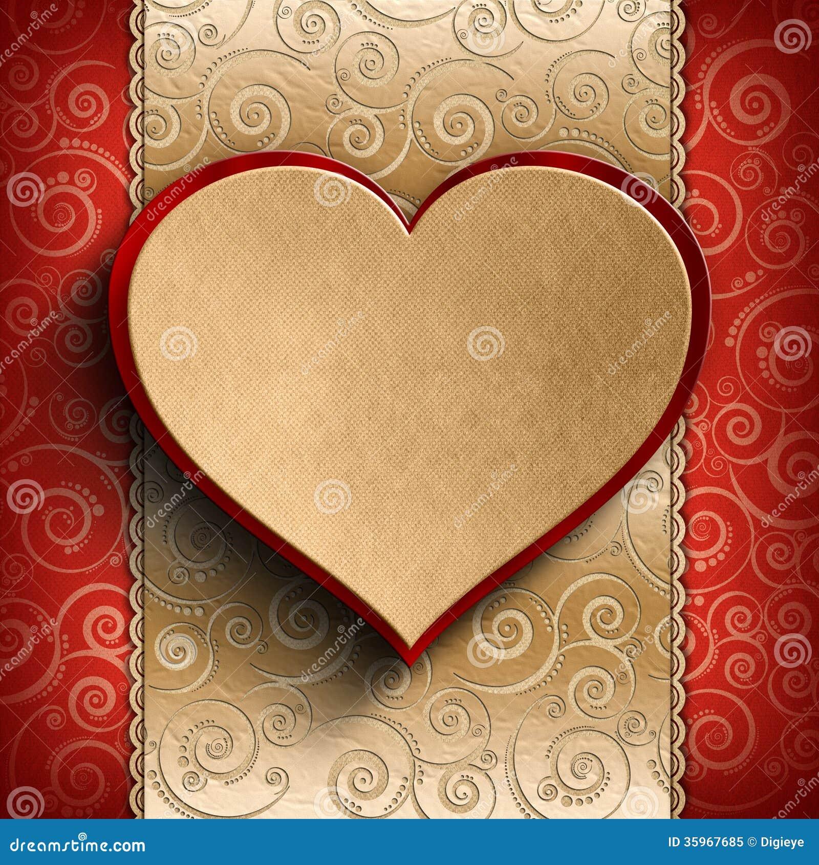 Fondo del día de tarjeta del día de San Valentín - tarjeta de felicitación