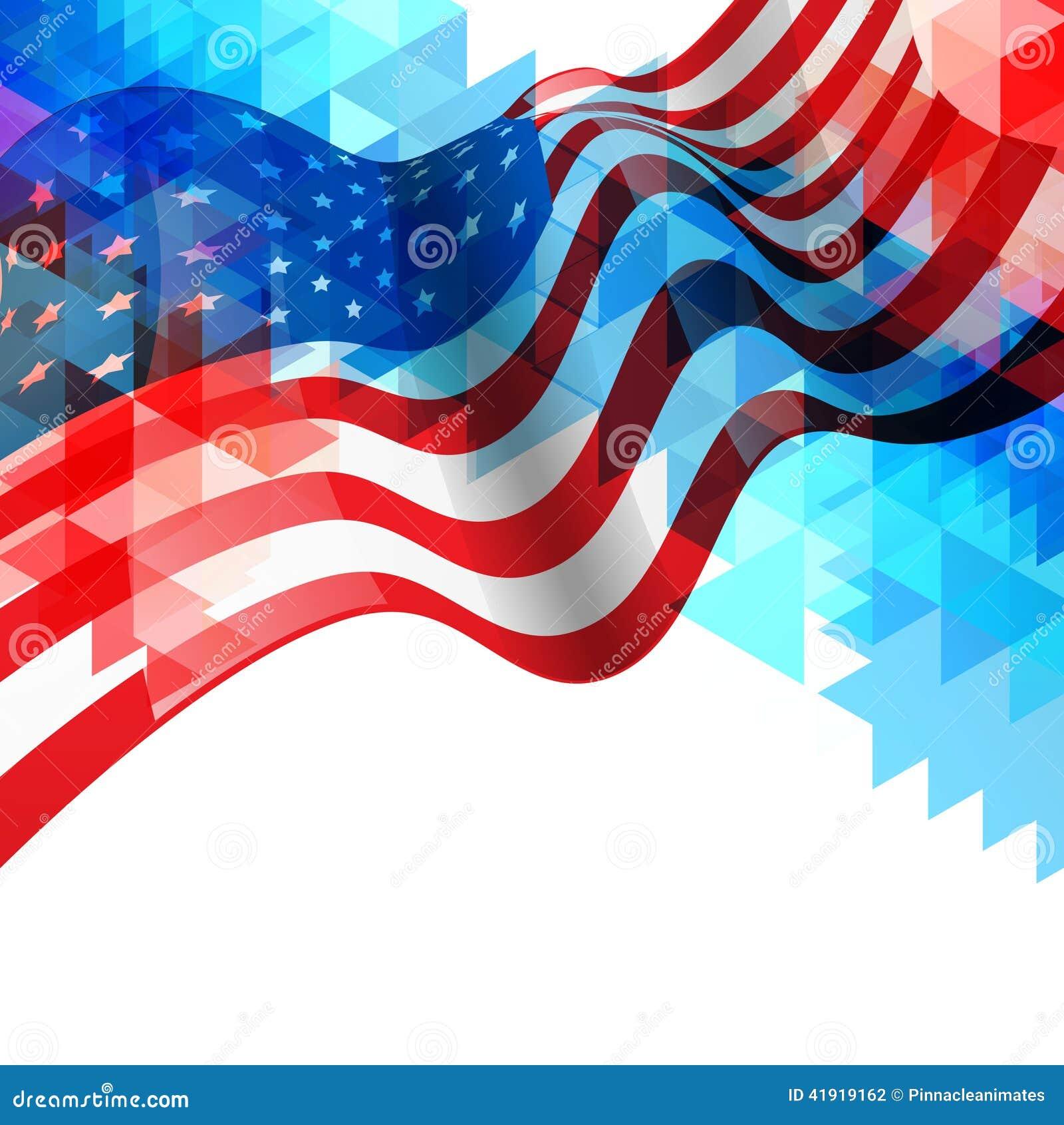 Fondo del diseño de la bandera americana