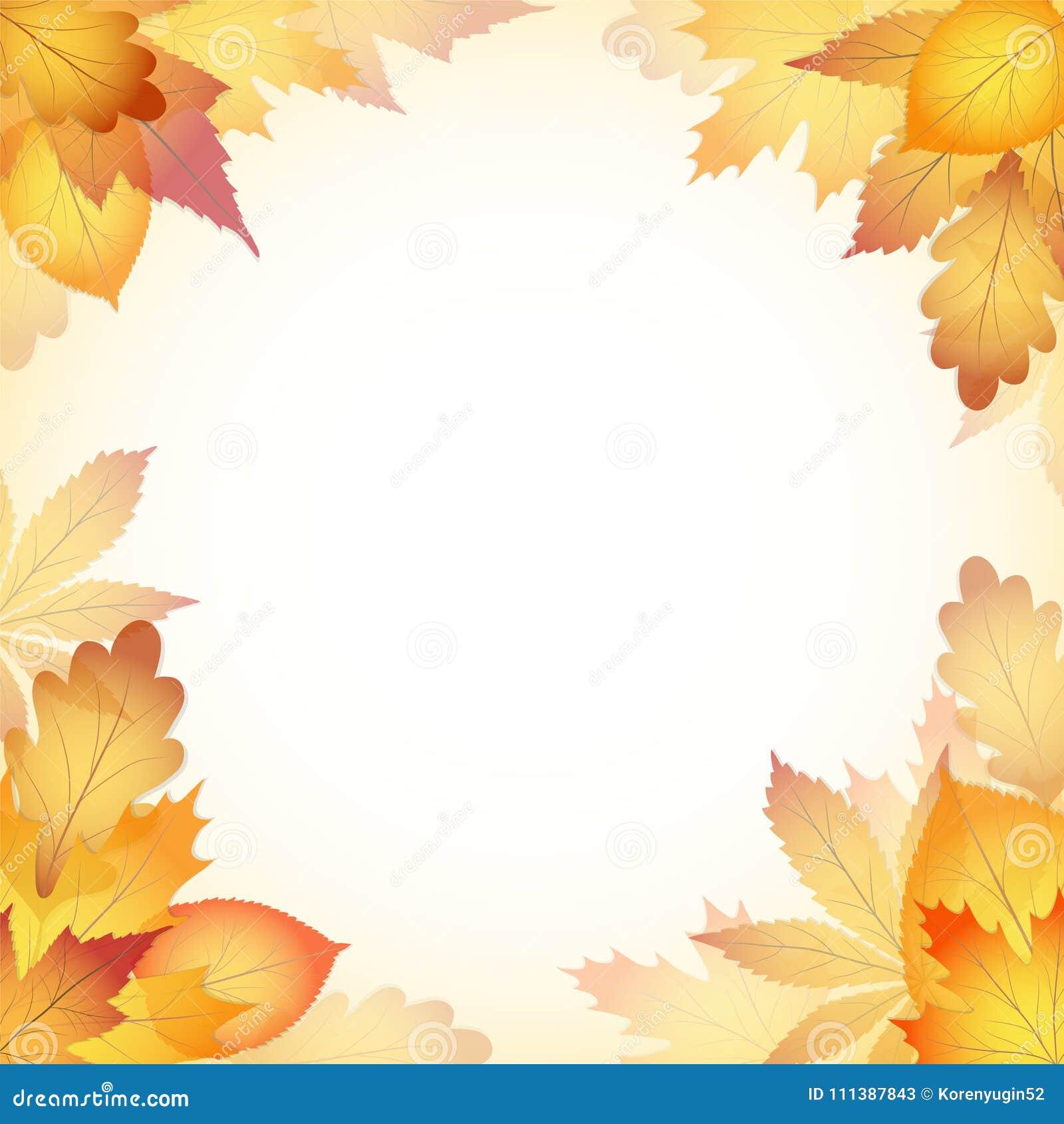 Fondo del diseño del otoño con las hojas que caen del árbol EPS1