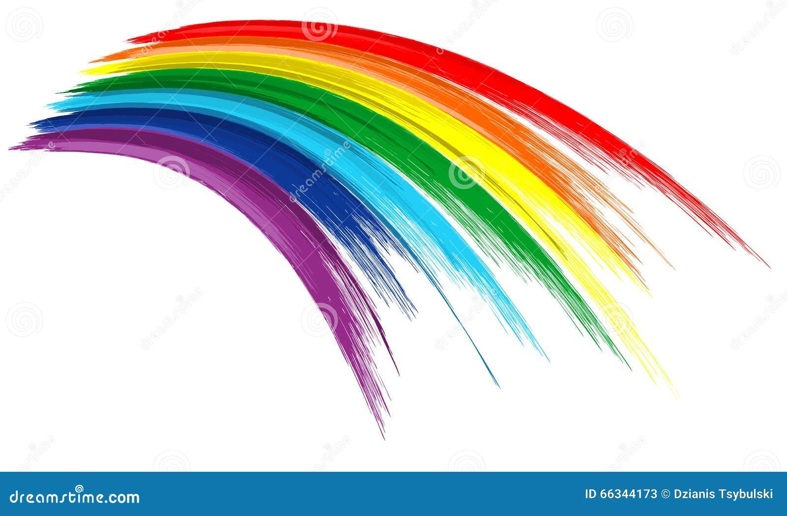 Fondo del drenaje de la pintura del movimiento del cepillo del color del arco iris del arte