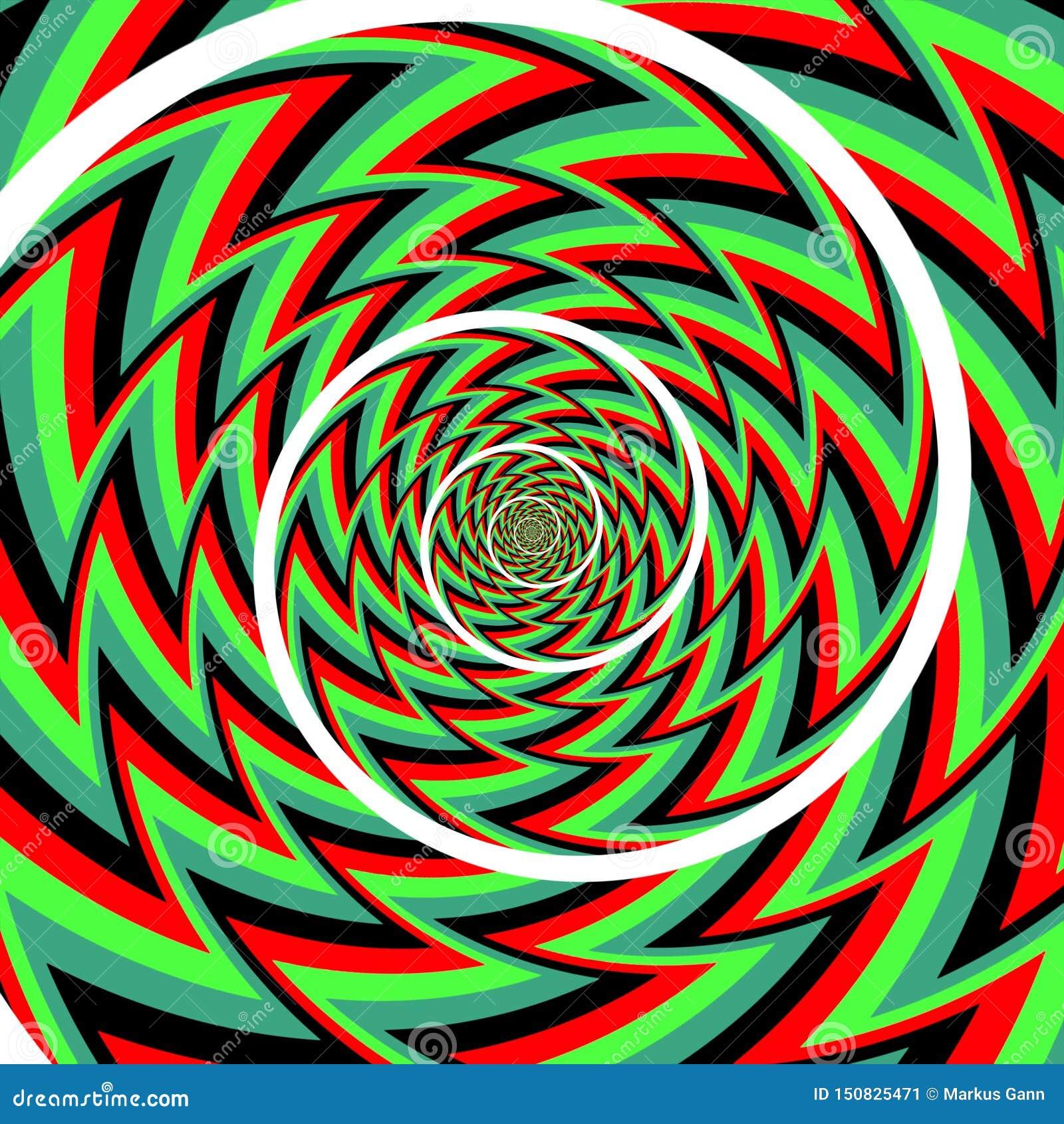 Fondo del espiral de la ilusi?n ?ptica