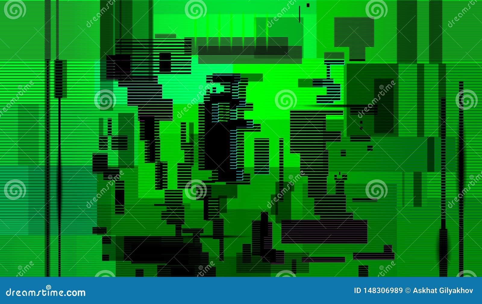 Fondo del extracto de la interferencia, error de la pantalla de ordenador