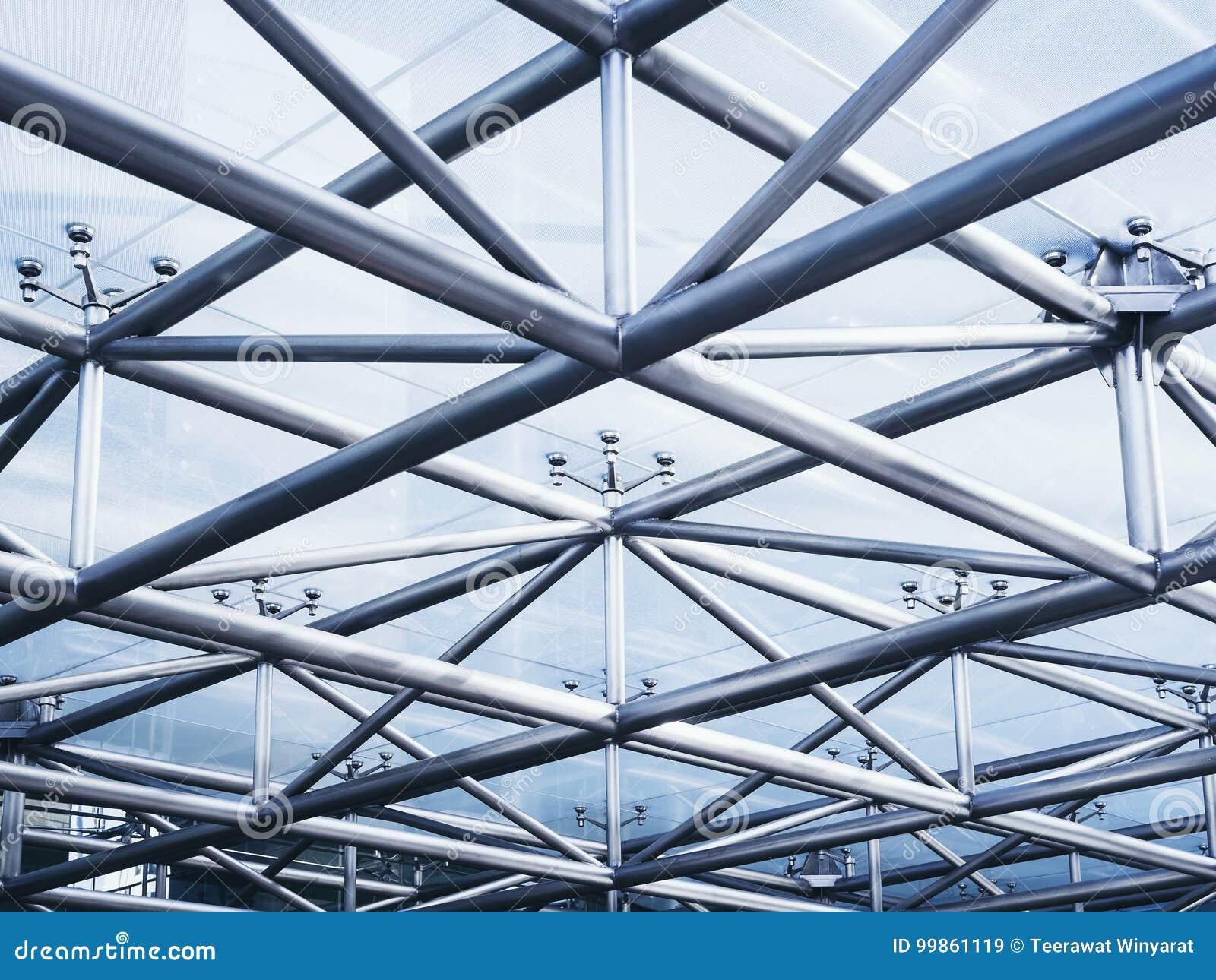 Fondo del extracto del detalle de la arquitectura de la estructura de acero