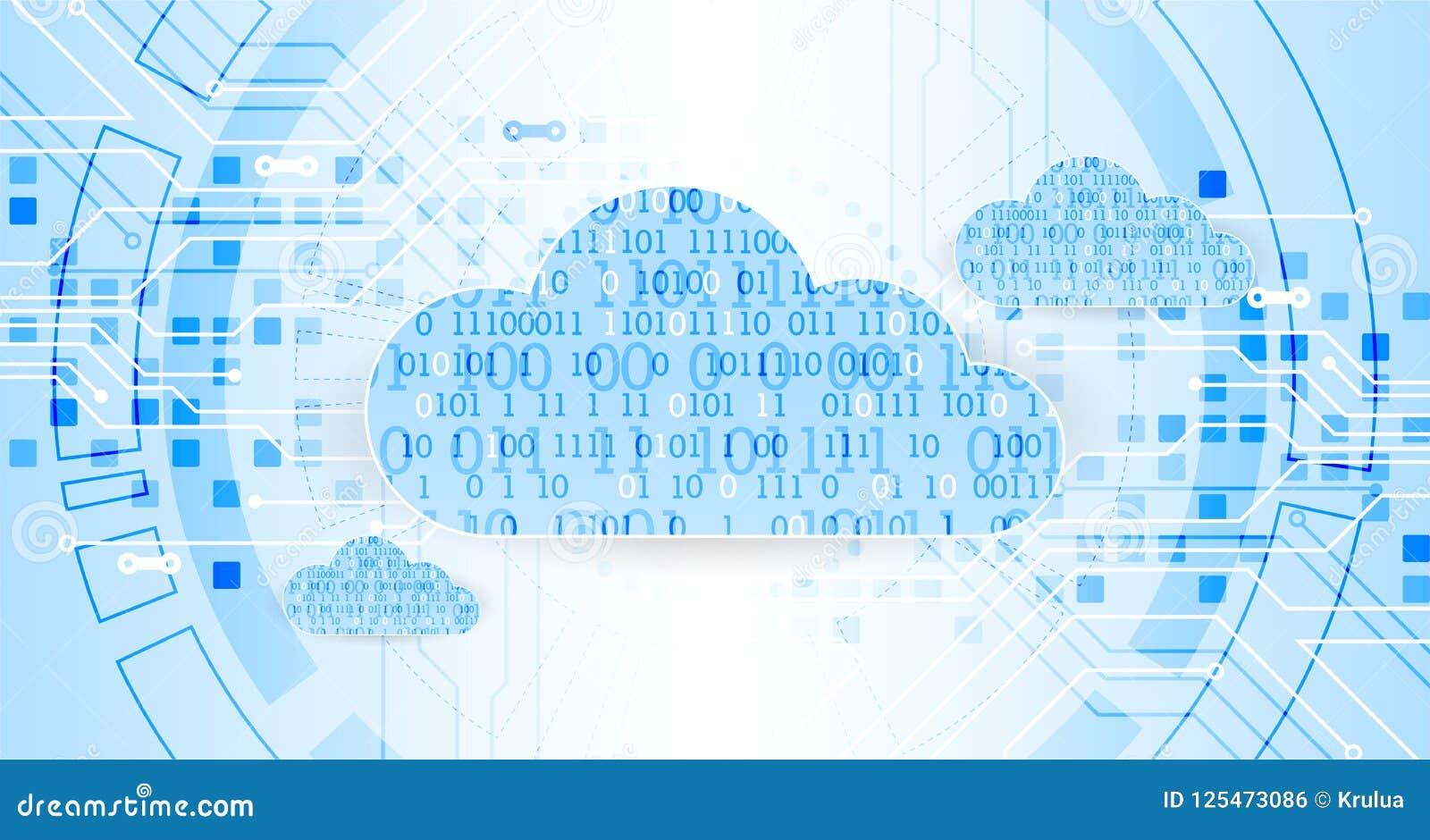 Fondo del extracto del negocio de la tecnología de la nube del web Vector