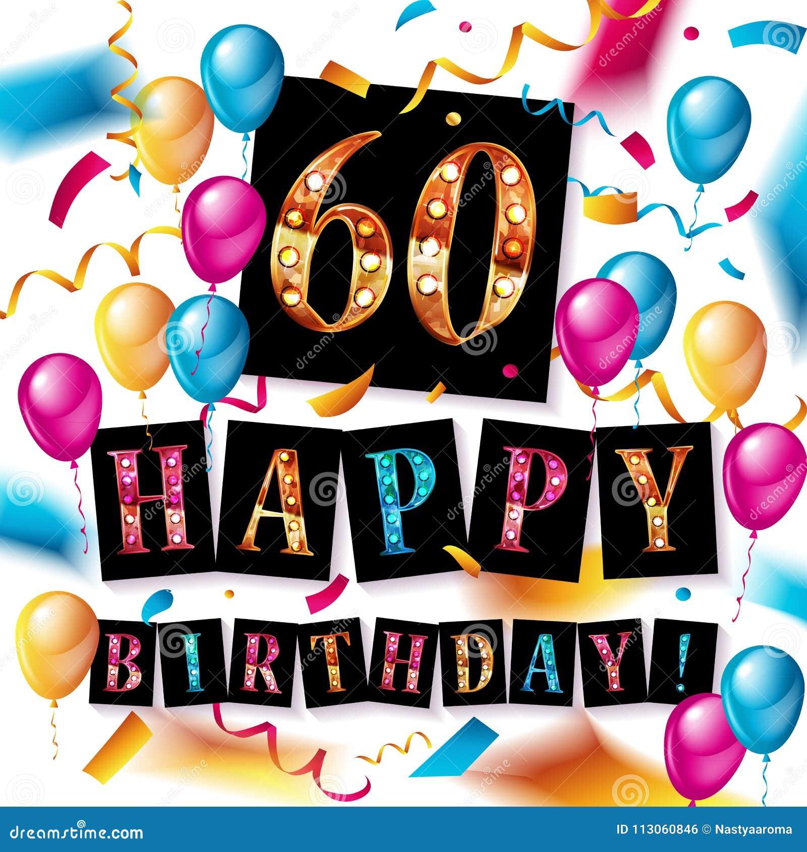 34153ff825fc Fondo Del Feliz Cumpleaños 60 Stock de ilustración - Ilustración de ...