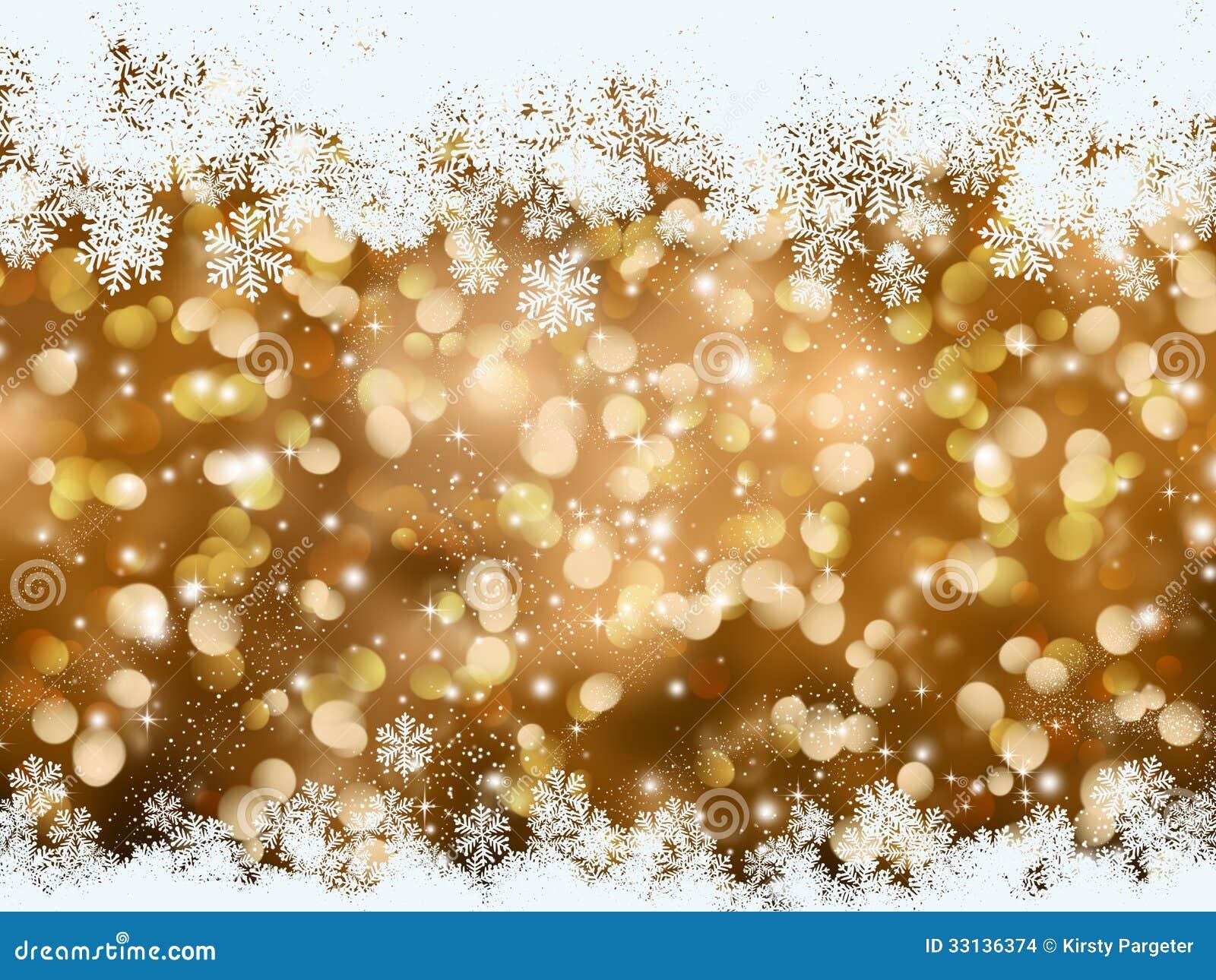Sfondi Natalizi Oro.Fondo Del Fiocco Di Neve Di Natale Dell Oro Illustrazione Di Stock