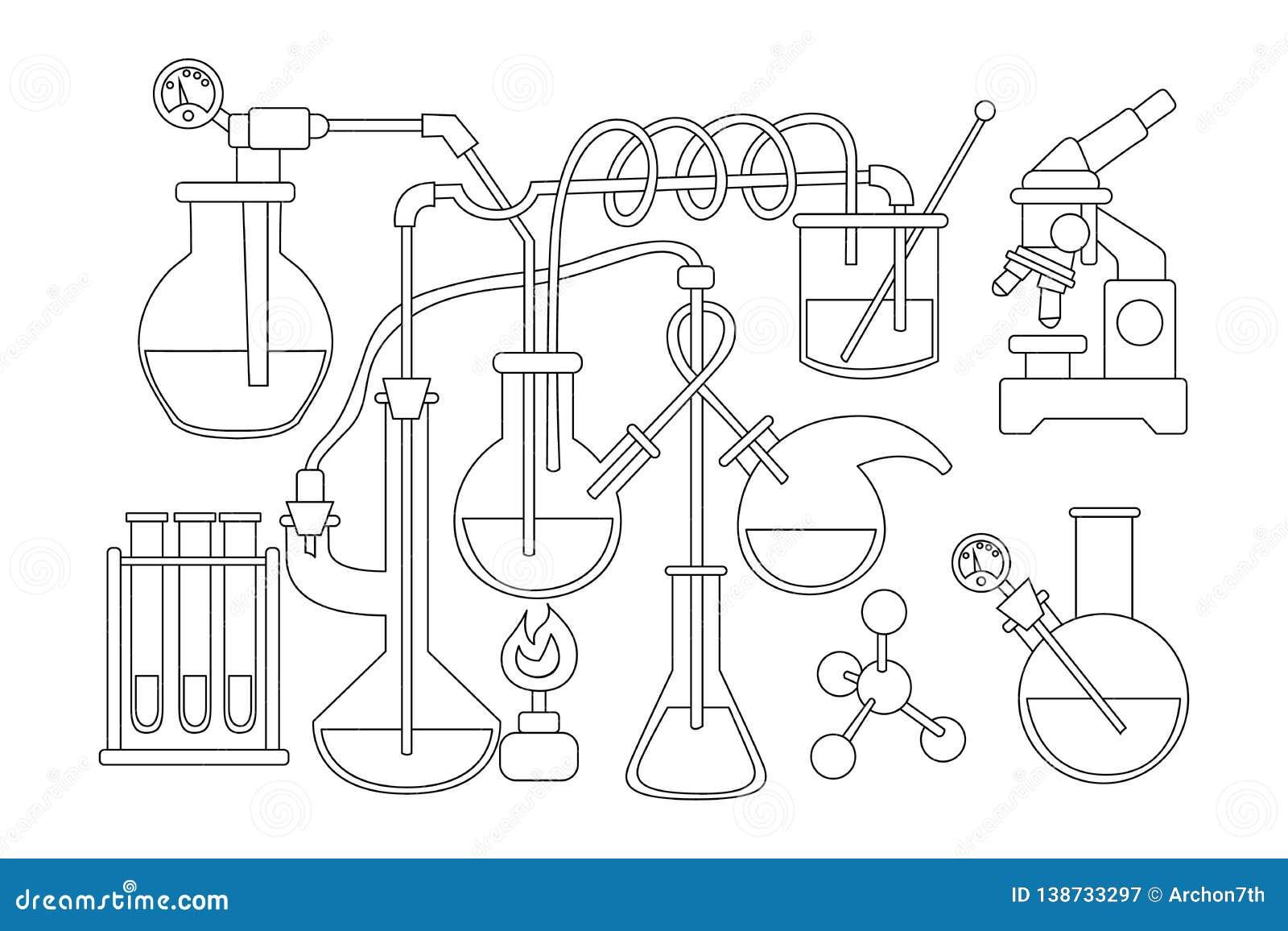 Fondo Del Garabato De La Ciencia Y De La Química Página