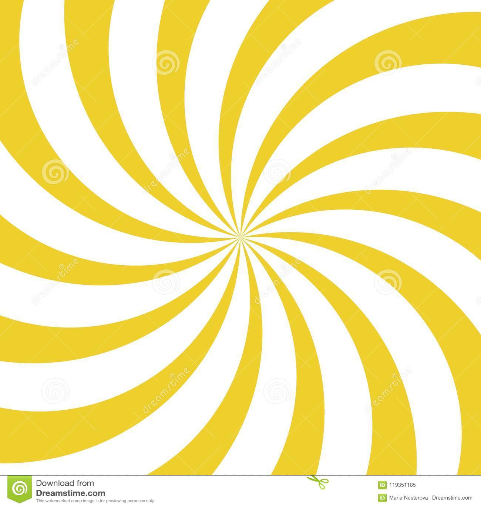 Fondo del giro de la luz del sol Fondo amarillo y blanco de explosión de color Ilustración del vector