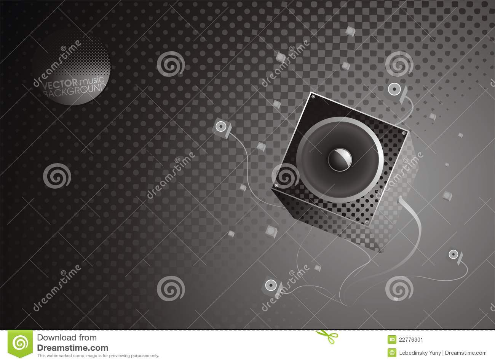 Fondo del gris de la música