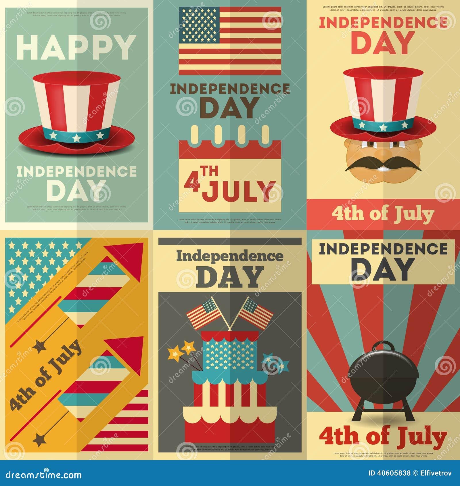 Fondo del grunge de la independencia Day