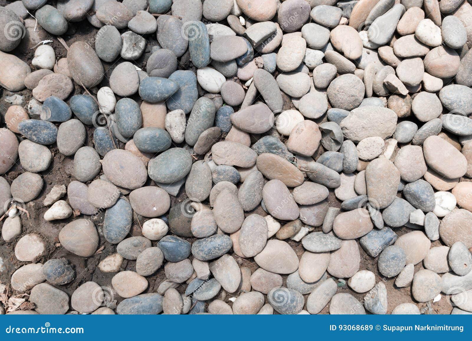 fondo del guijarro de la piedra decorativa jardn redondo de la textura de la grava foto