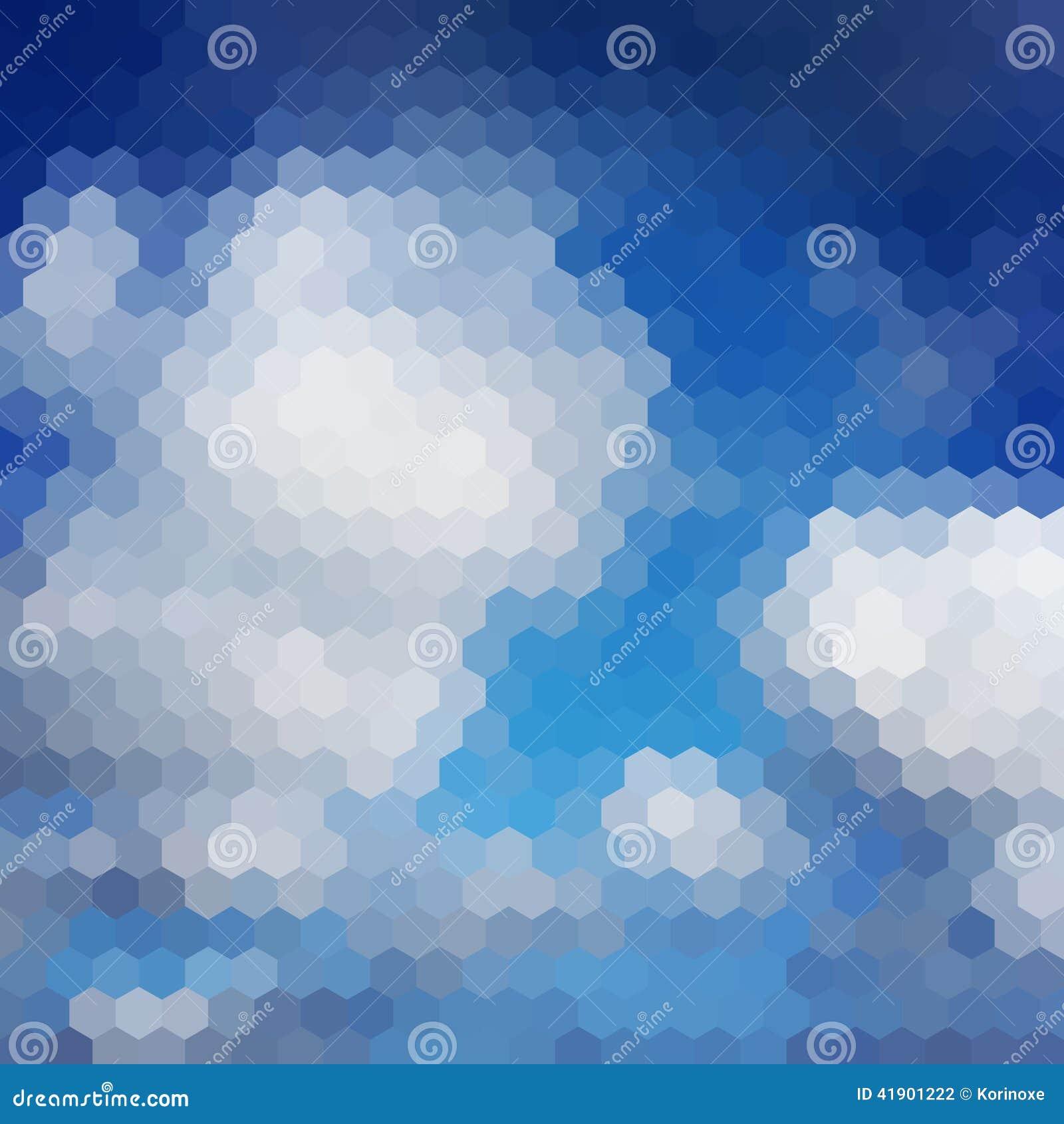 Fondo del hexágono del cielo