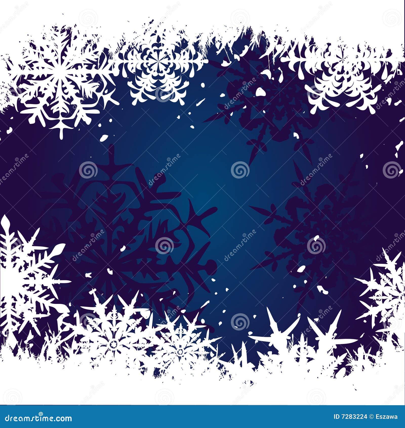 Fondo del invierno, copos de nieve
