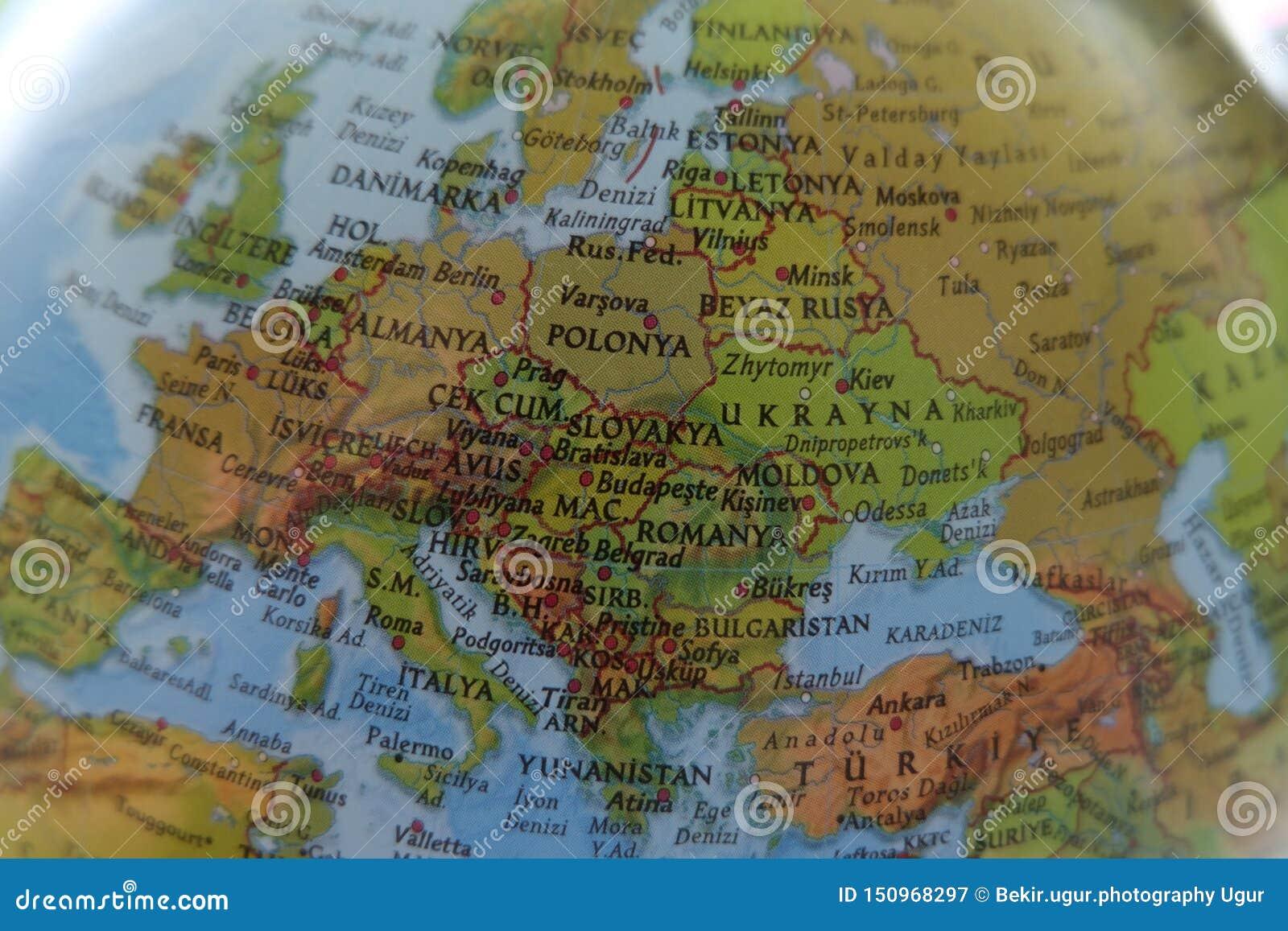 Fondo Del Mapa Del Mundo Europa Imagen De Archivo Imagen De
