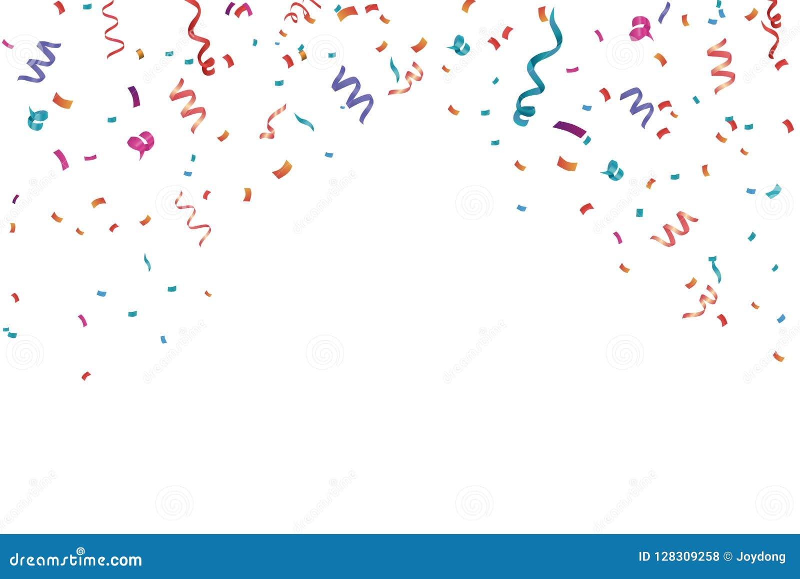 Fondo del marco de la celebración del confeti Horizontal, aniversario