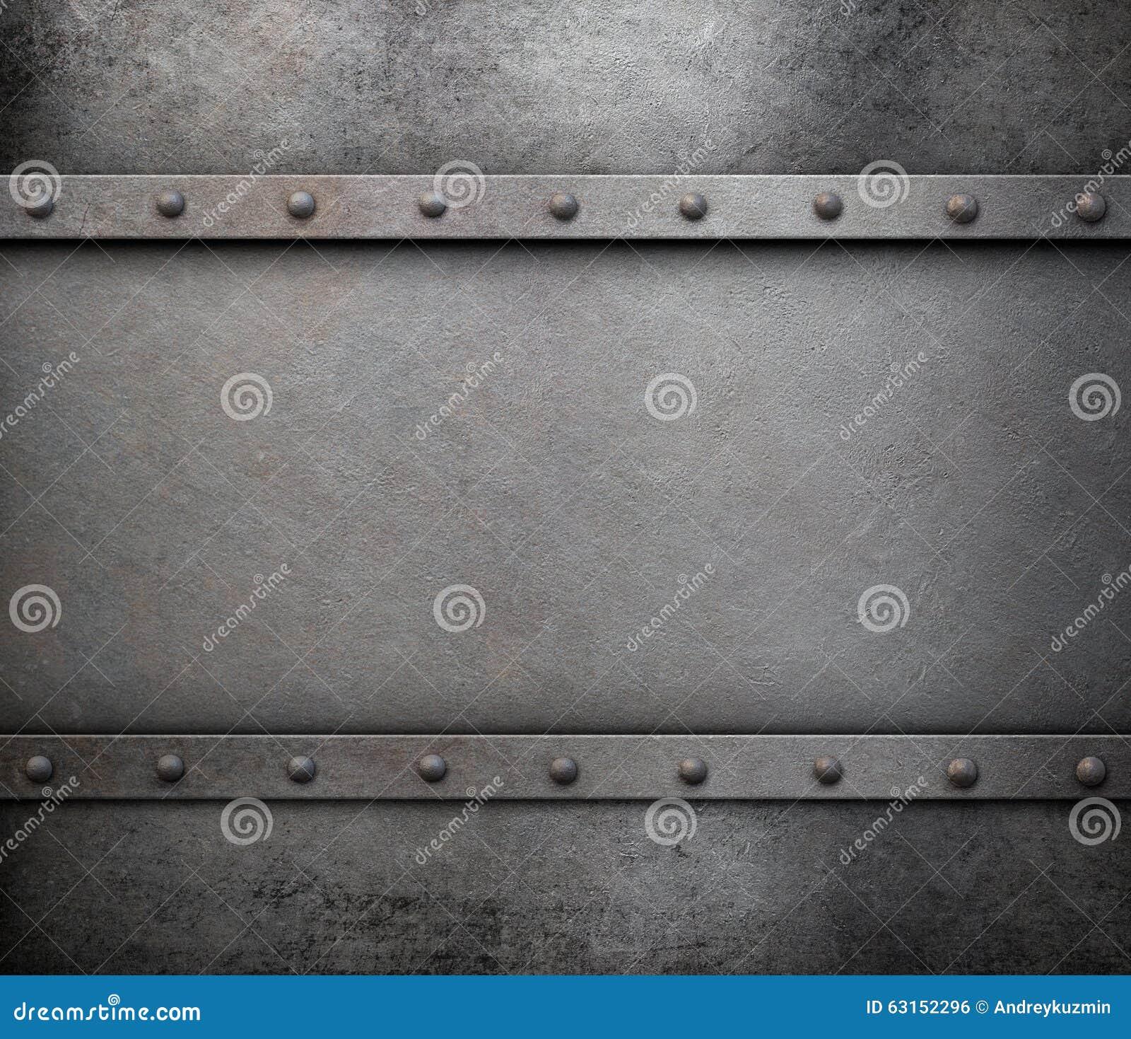 Fondo del metallo di lerciume con i ribattini