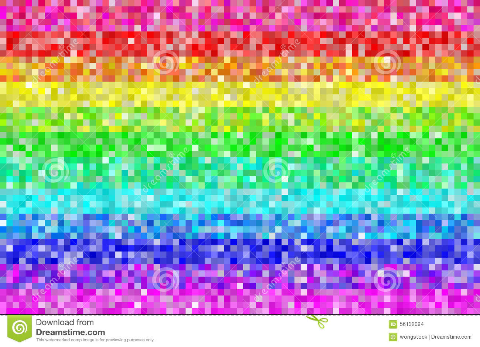 Fondo del modelo del arco iris del pixel Vector EPS8