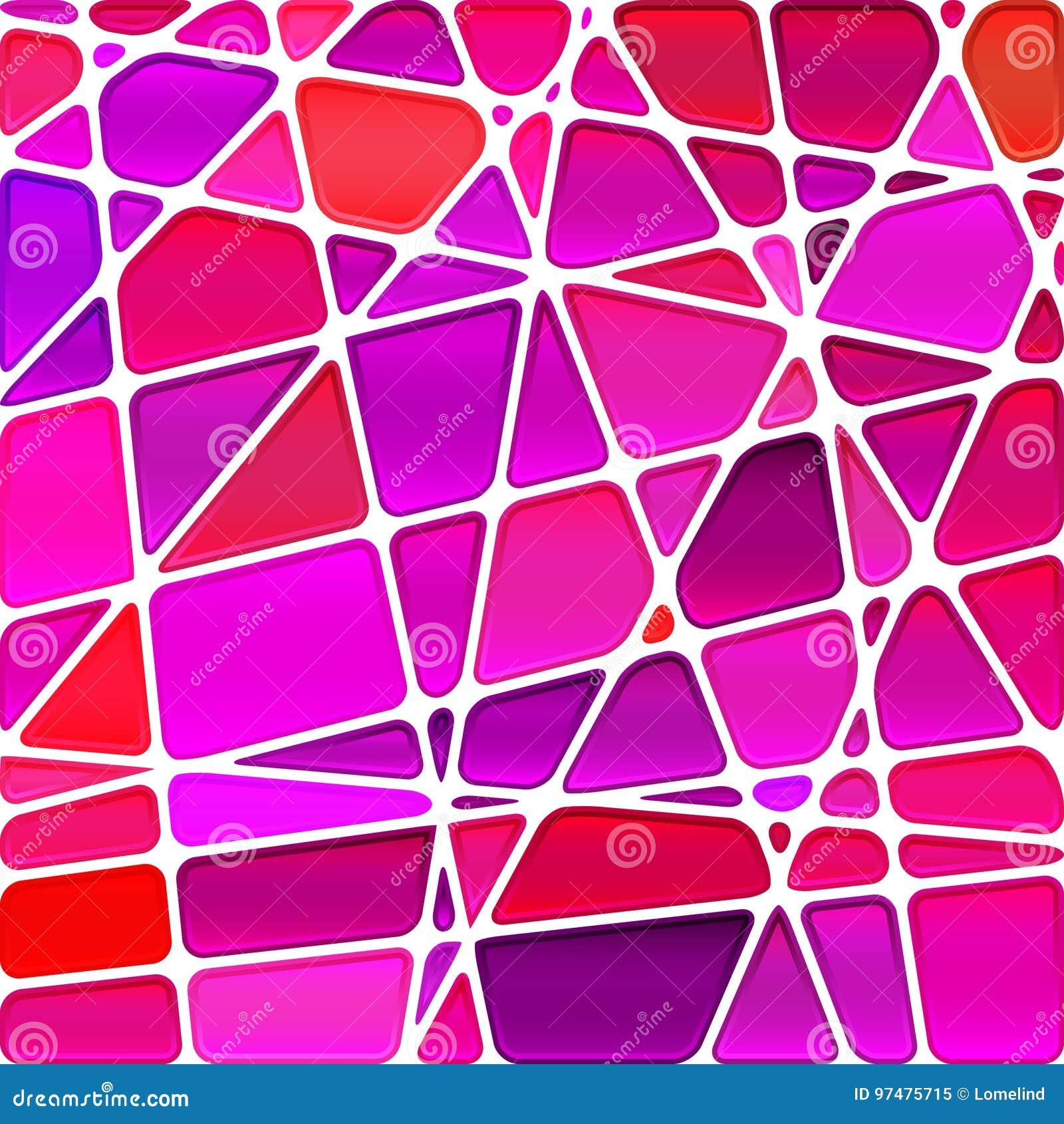 Fondo del mosaico del vetro macchiato di vettore