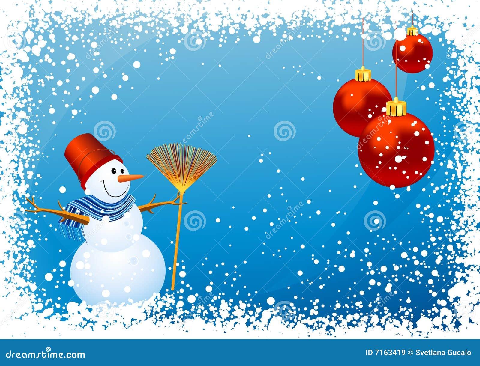 Fondo del muñeco de nieve