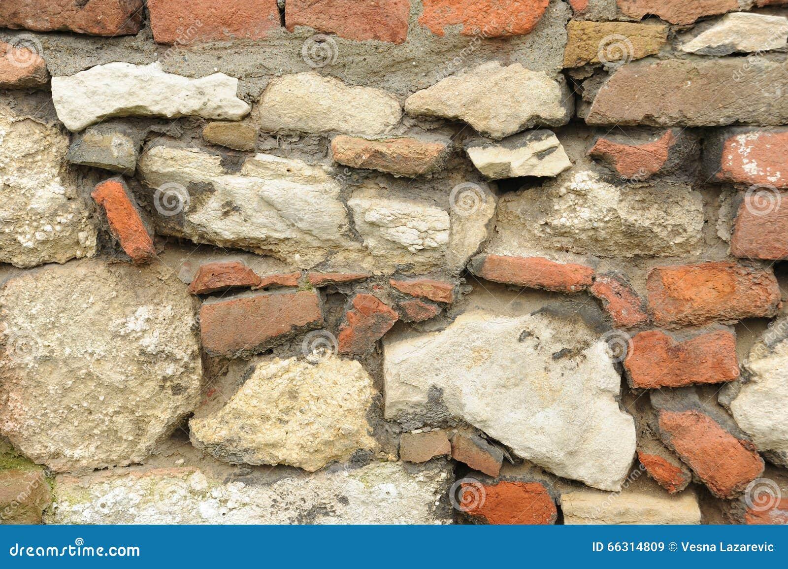 Fondo del muro di mattoni e della pietra fotografia stock for Planimetrie della casa di mattoni