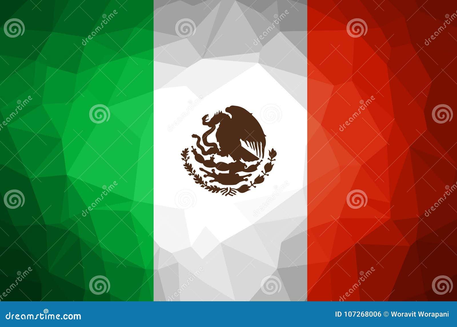 Fondo Del Polígono Del Extracto De La Bandera De México