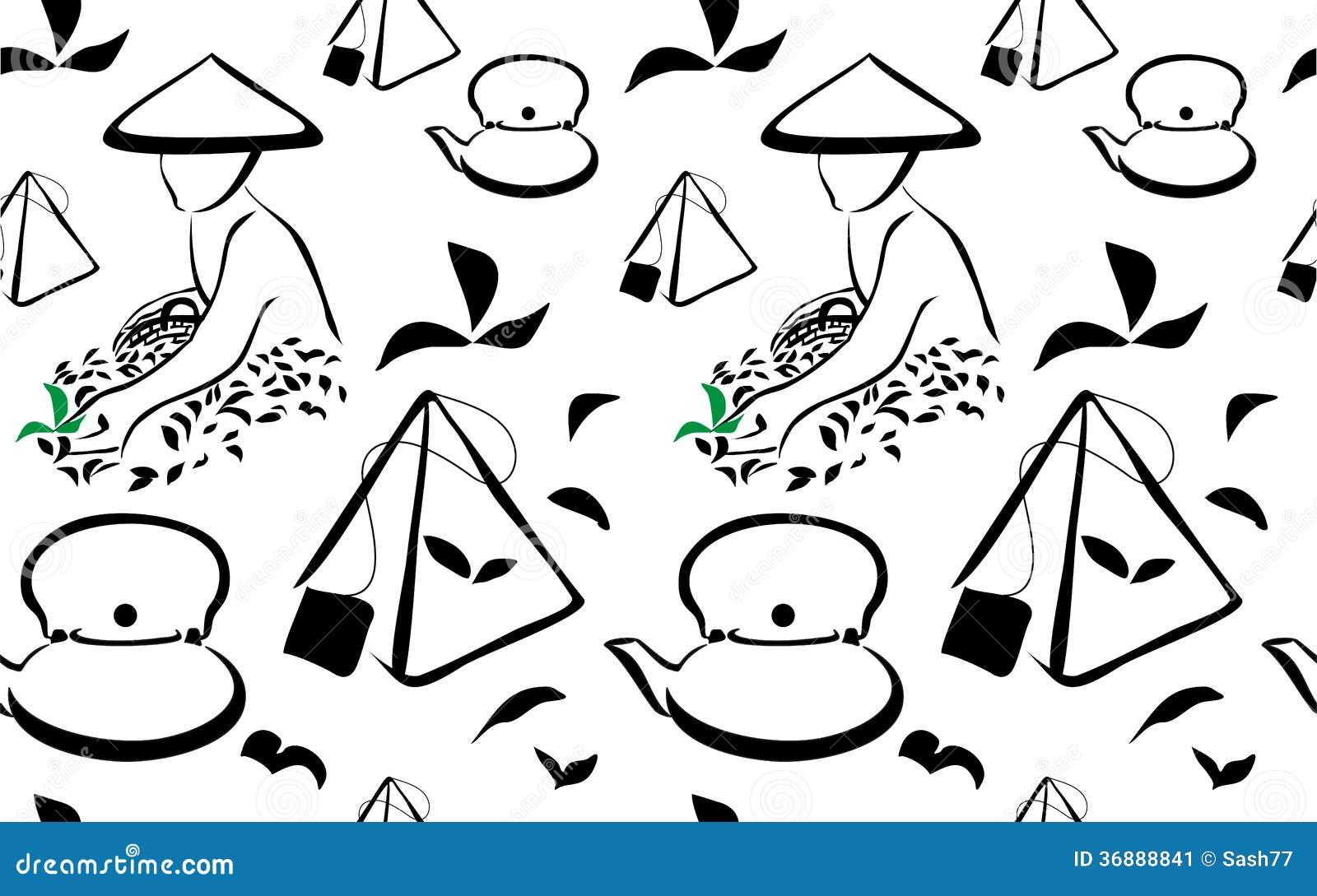 Download Fondo del raccolto del tè illustrazione vettoriale. Illustrazione di ambiente - 36888841