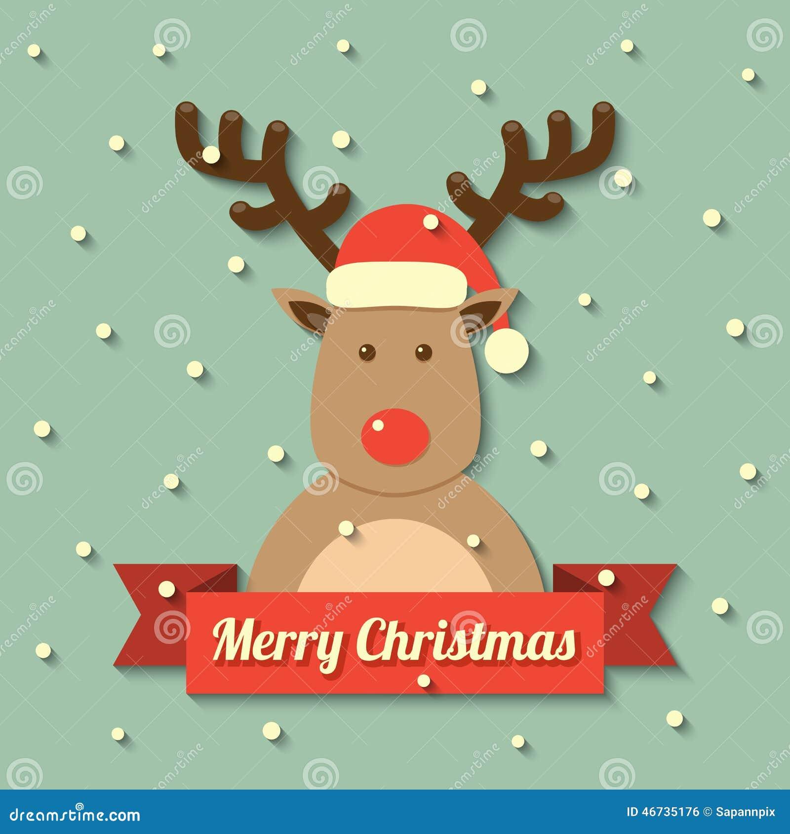 Fondo del reno de la navidad ilustraci n del vector for Dibujos de renos en navidad