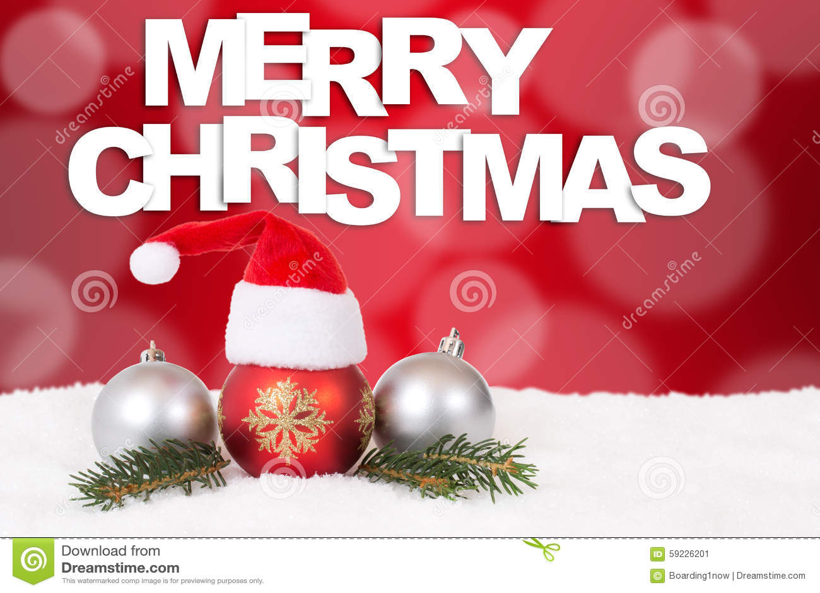 Fondo del rojo del sombrero de la tarjeta de la Feliz Navidad