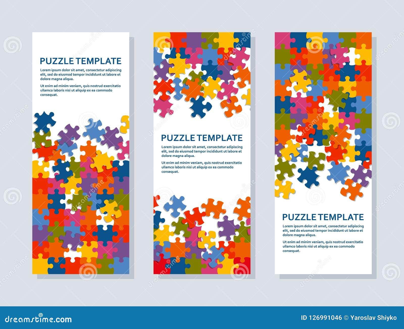 Fondo del rompecabezas con muchos pedazos coloridos Plantilla abstracta del mosaico