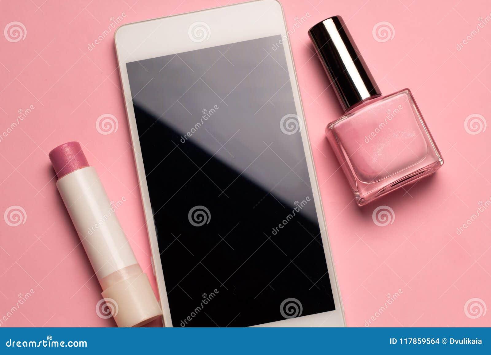 Fondo Del Rosa En Colores Pastel Del Teléfono Celular Del