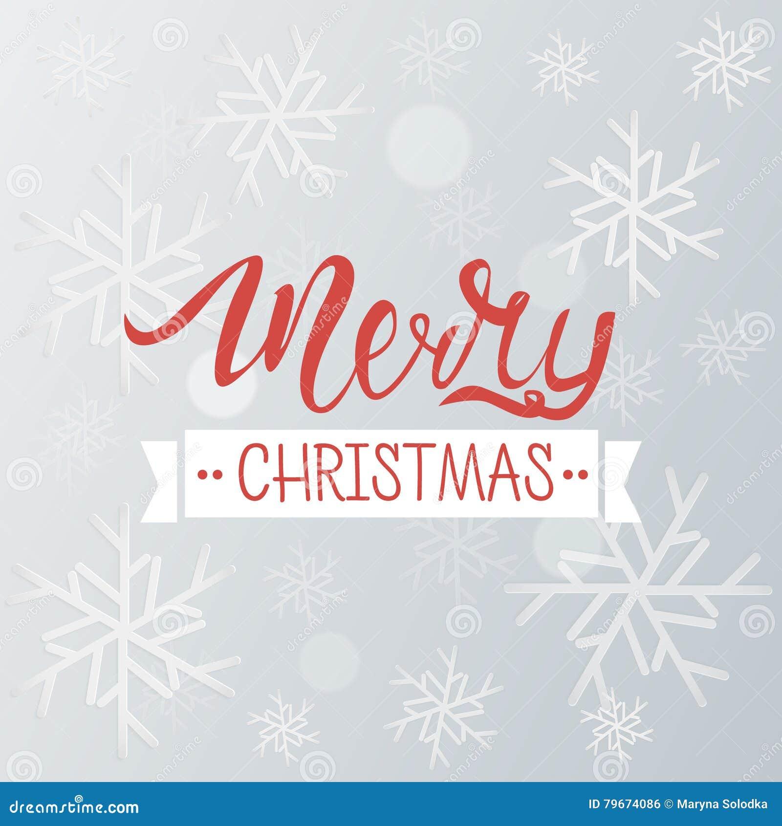 Fondo Del Saludo De La Feliz Navidad Plantilla Del Invierno Del Día ...