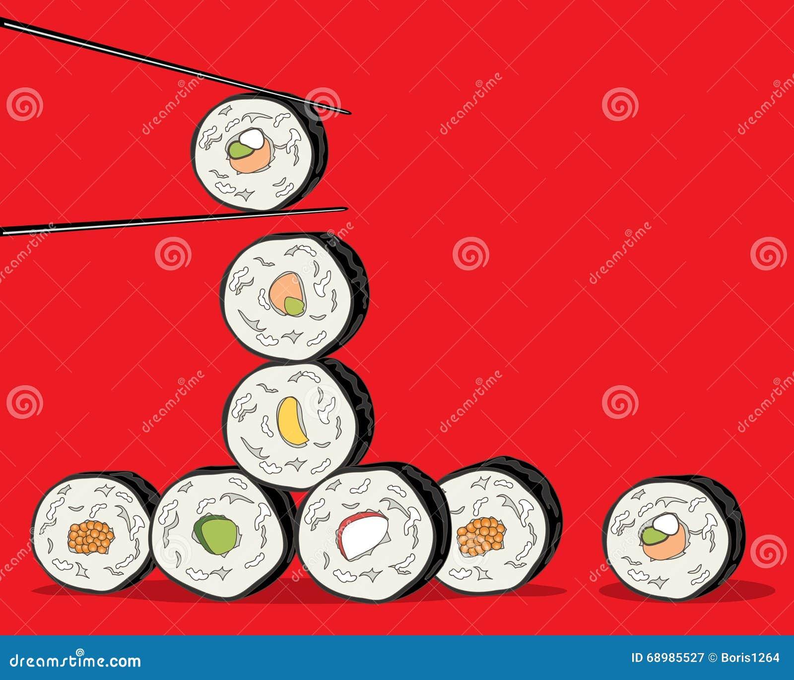Fondo del sushi