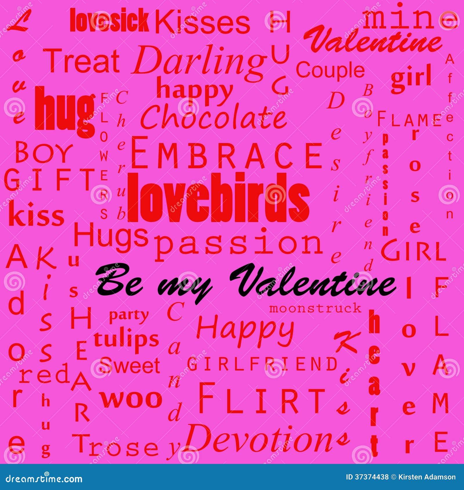 Fondo del testo dei biglietti di S. Valentino
