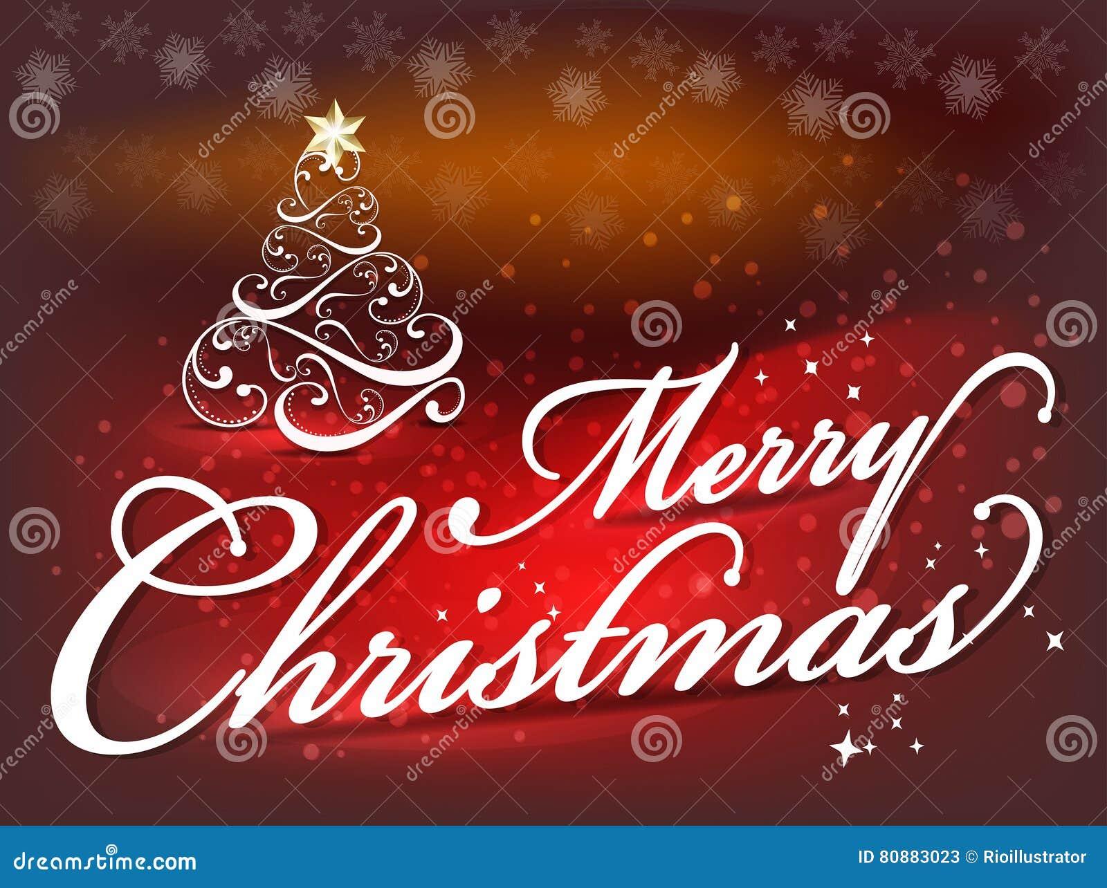 Buon Natale Del C Testo.Fondo Del Testo Del Fondo Di Buon Natale Con L Albero Illustrazione