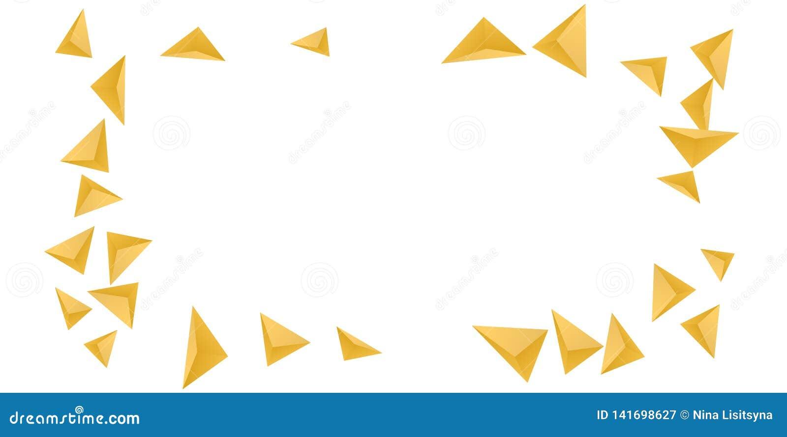 Fondo del triángulo Composición abstracta de cristales triangulares