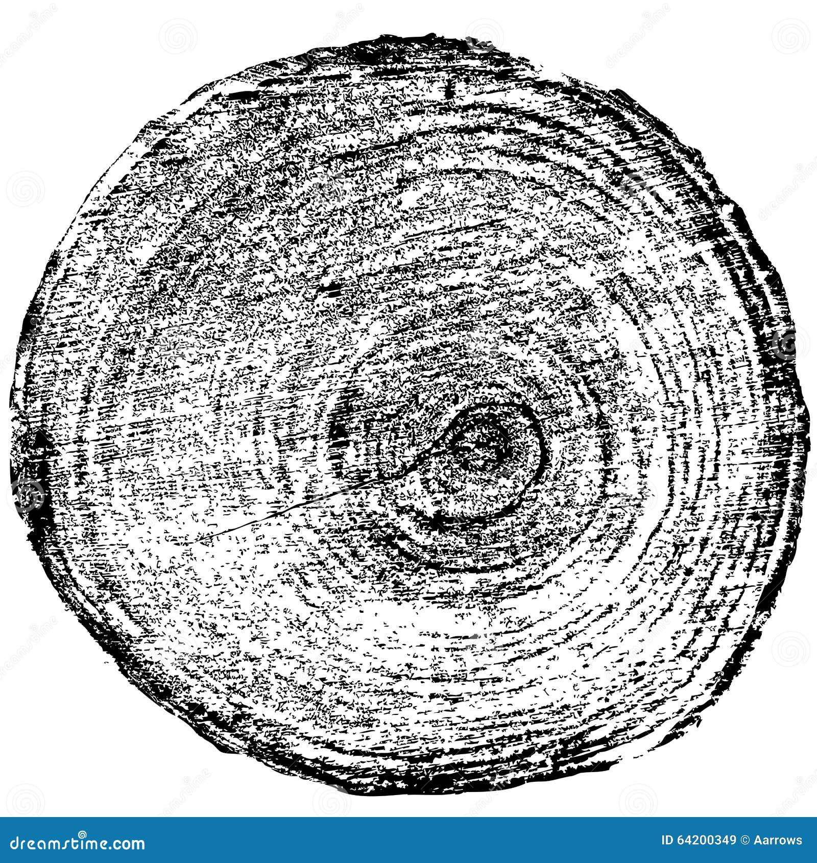 Fondo del tronco de árbol del corte de la sierra de los anillos de árbol Vector