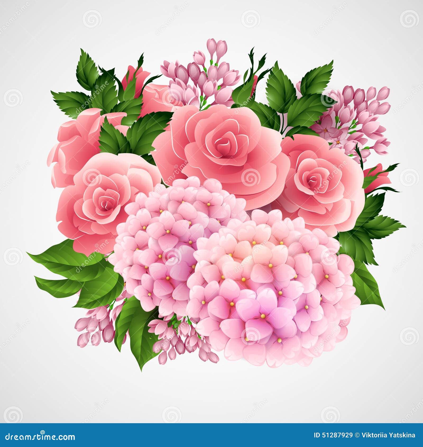 fondo del vector con una flor hermosa ilustración del vector