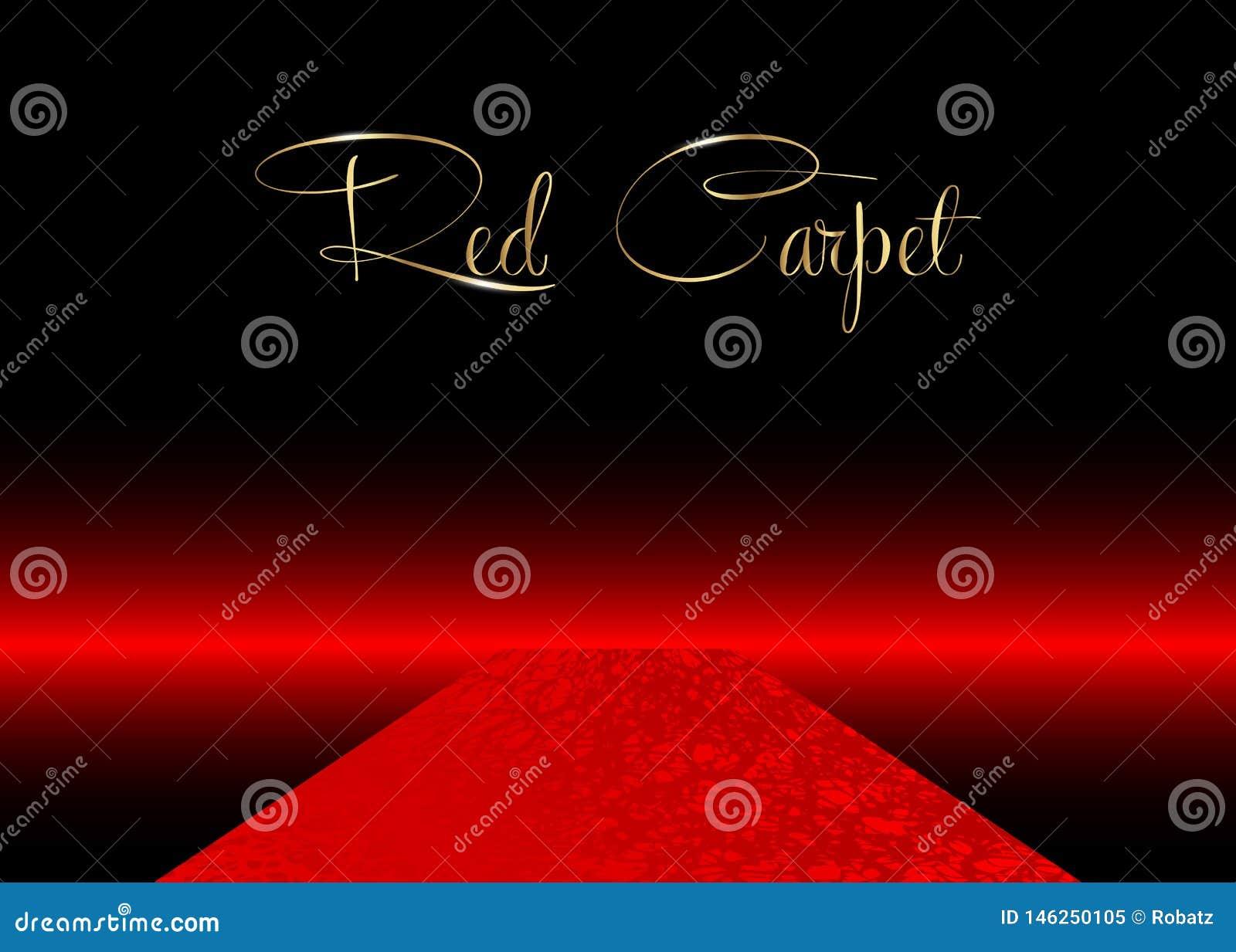 Fondo del vector de la alfombra roja Acontecimiento de lujo y elegante de Hollywood de la alfombra roja, ejemplo de la perspectiv