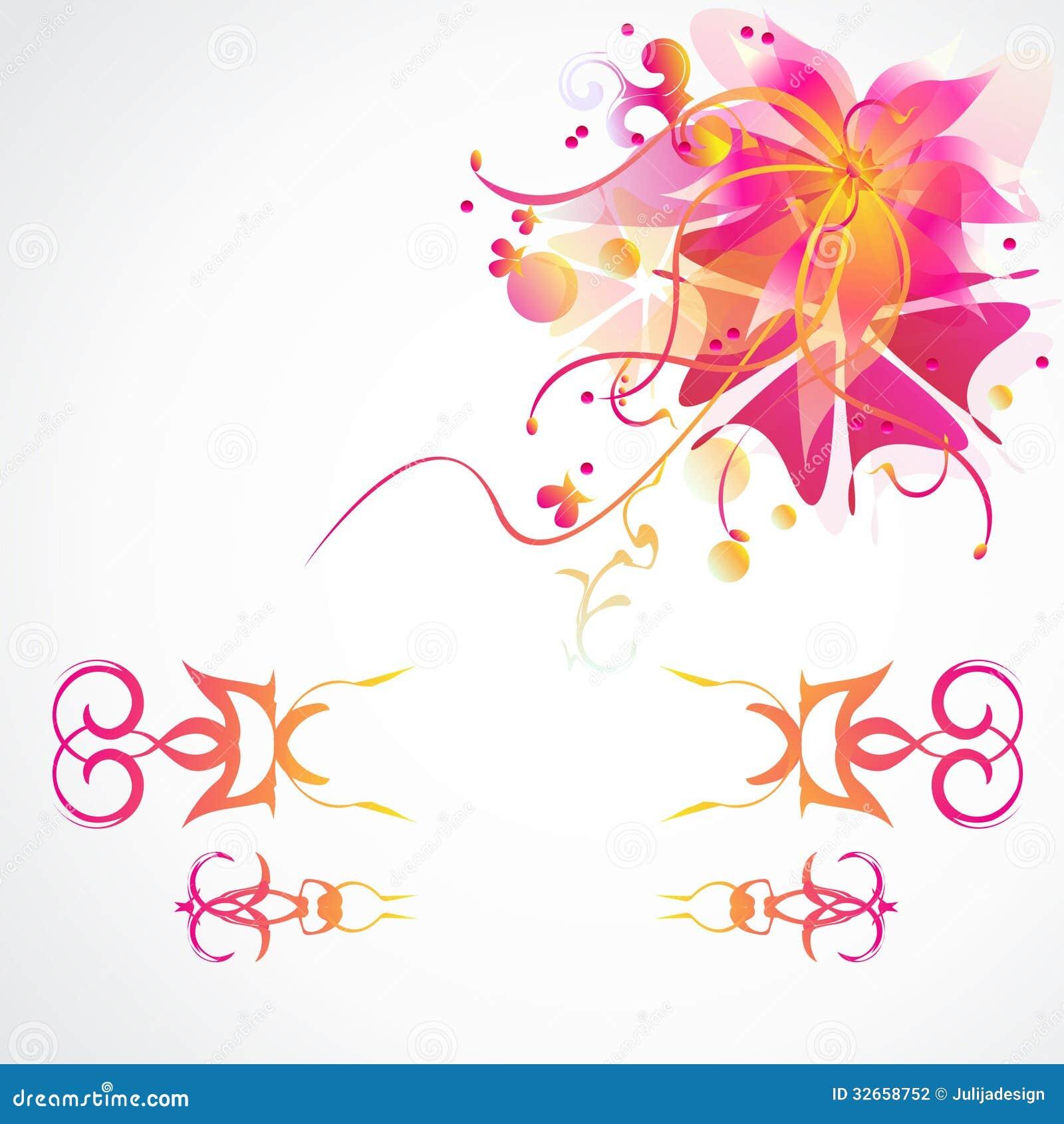 Fondo del vector de la flor con los marcos decorativos - Marcos decorativos ...