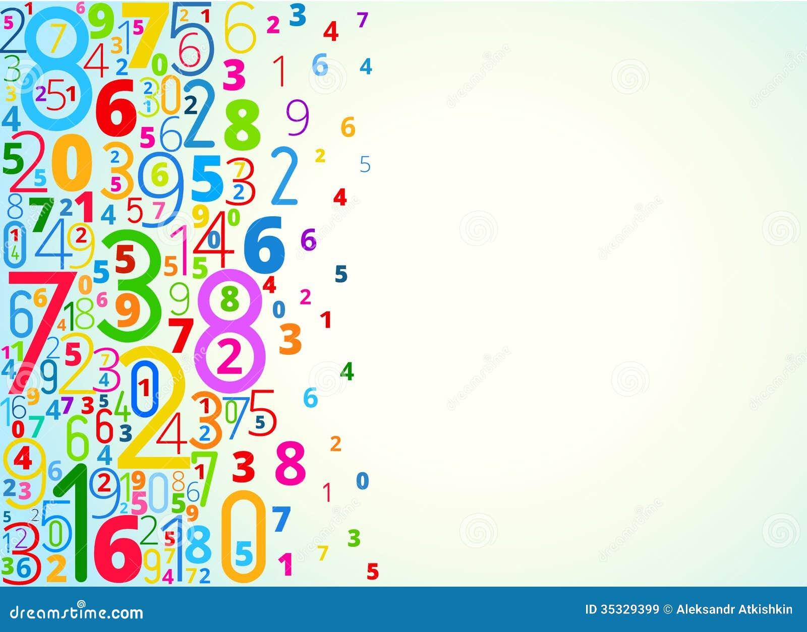 Fondo Del Vector De Números Ilustración del Vector - Ilustración de  números, vector: 35329399