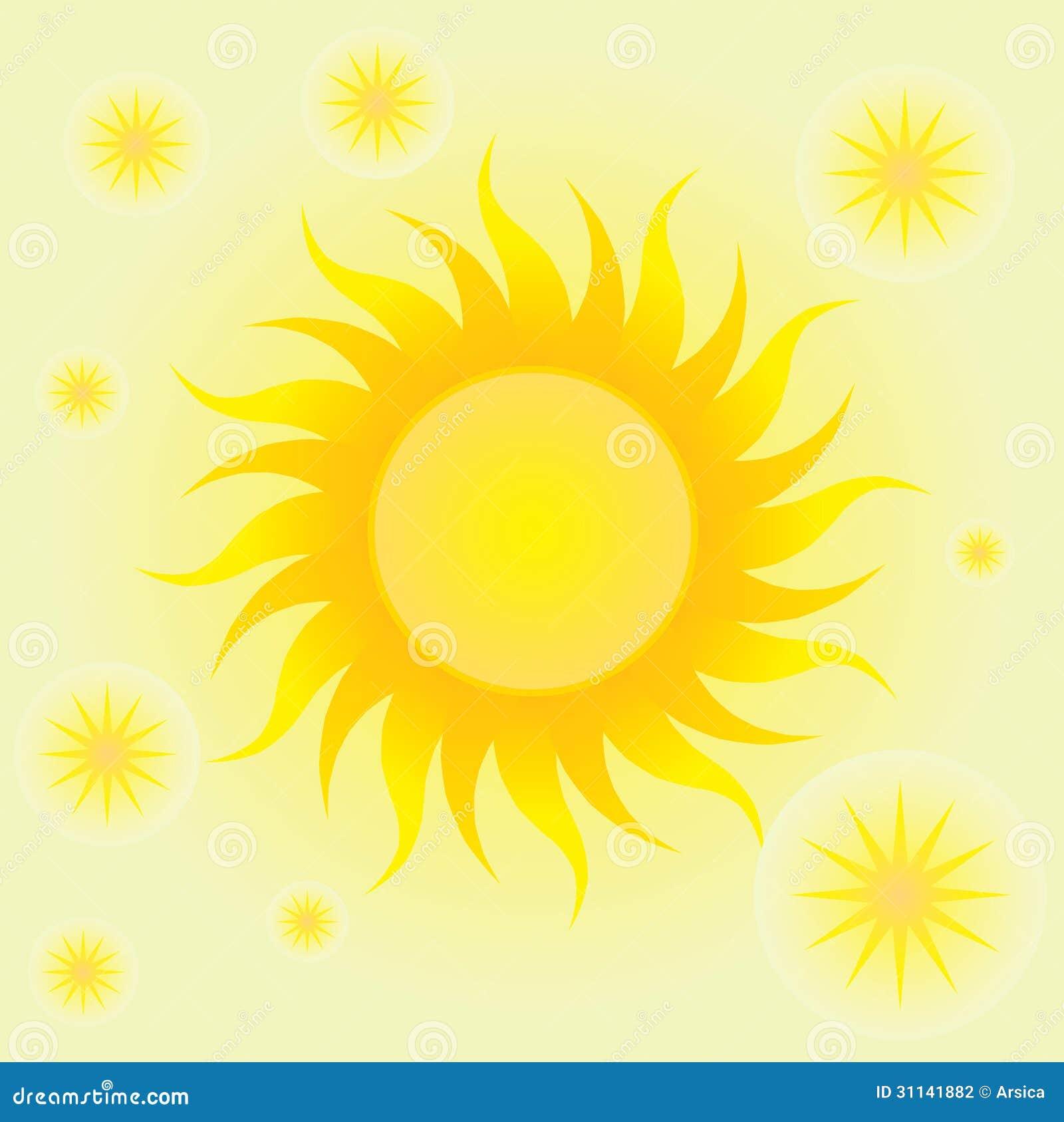 Fondo del verano con el sol y los c rculos fotograf a de for Fondo del sol