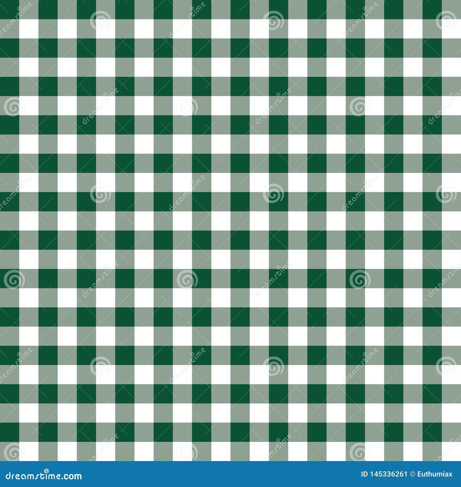 Fondo del verde de Borgo?a y blanco de la tela escocesa del vector Modelo a cuadros de la repetici?n incons?til