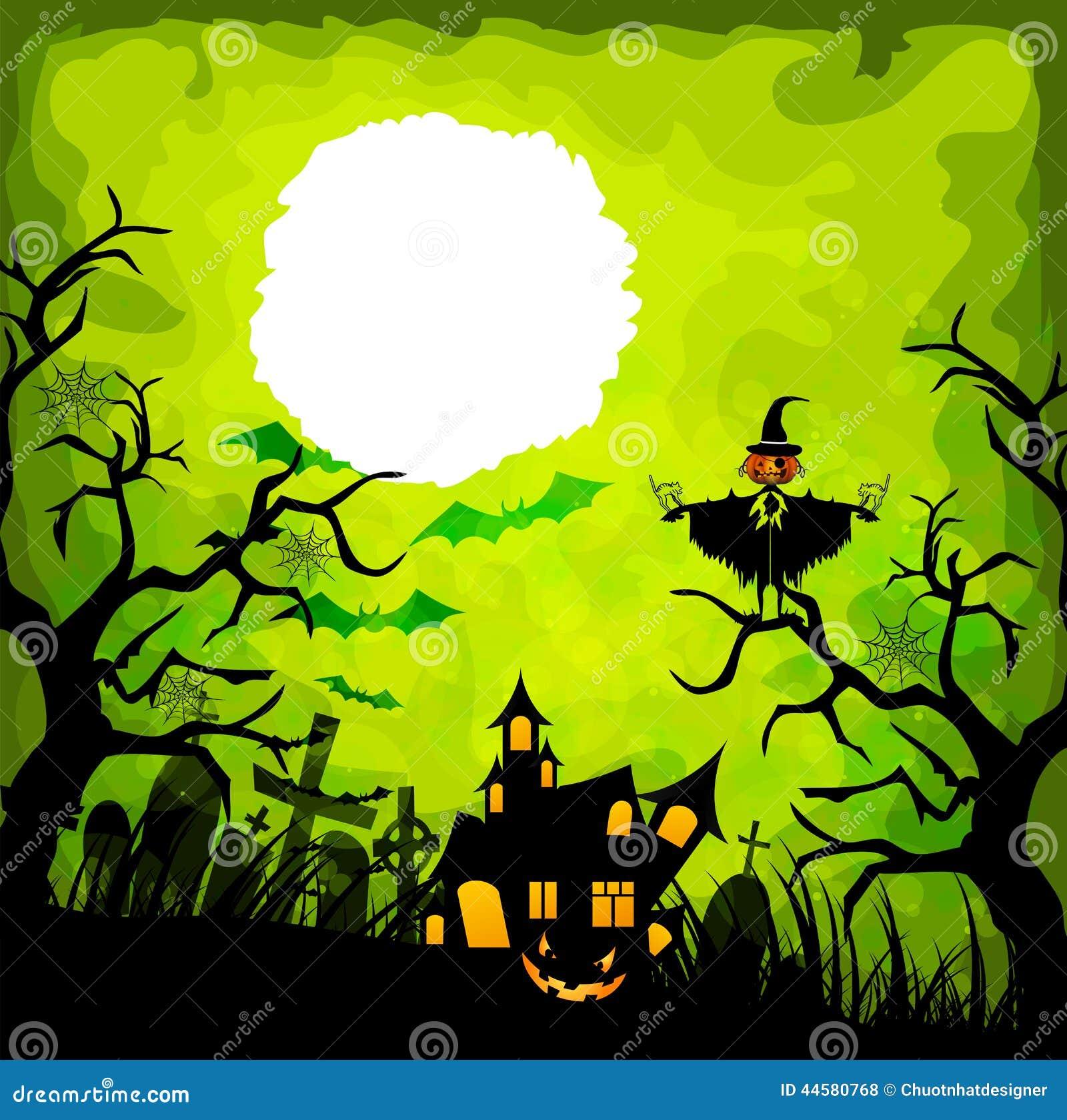 Fondo del verde de Halloween