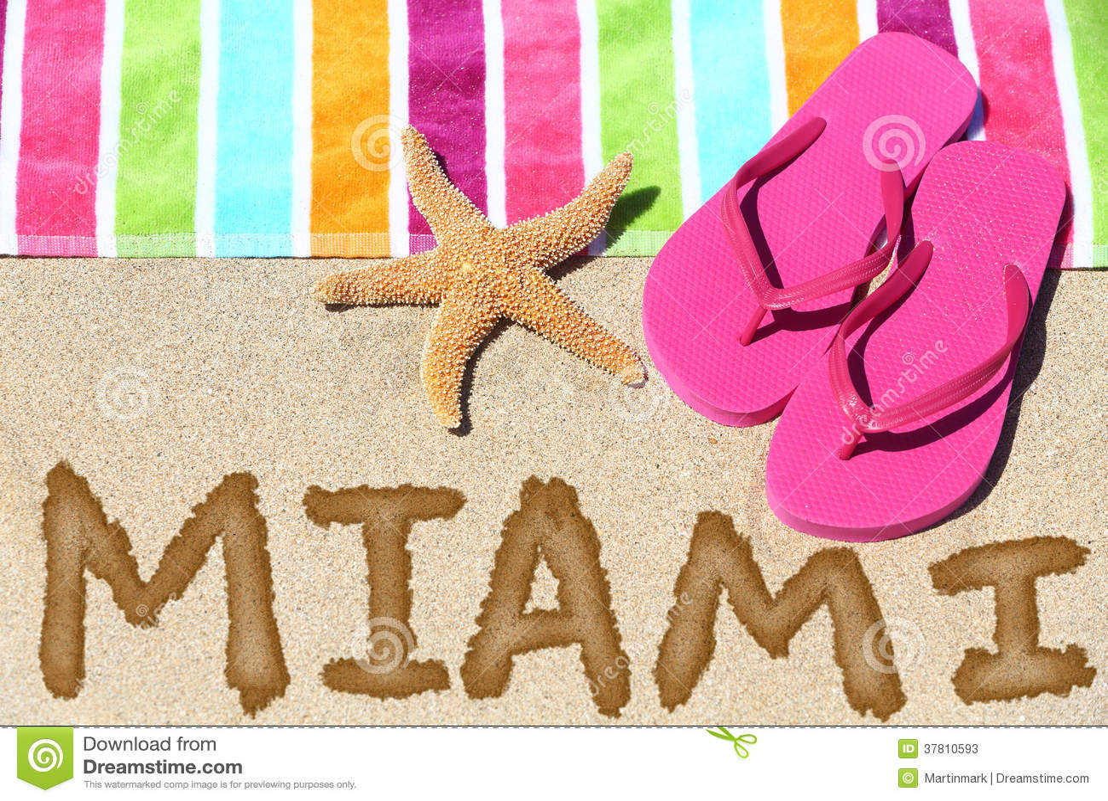 Fondo del viaje de la playa de Miami, la Florida