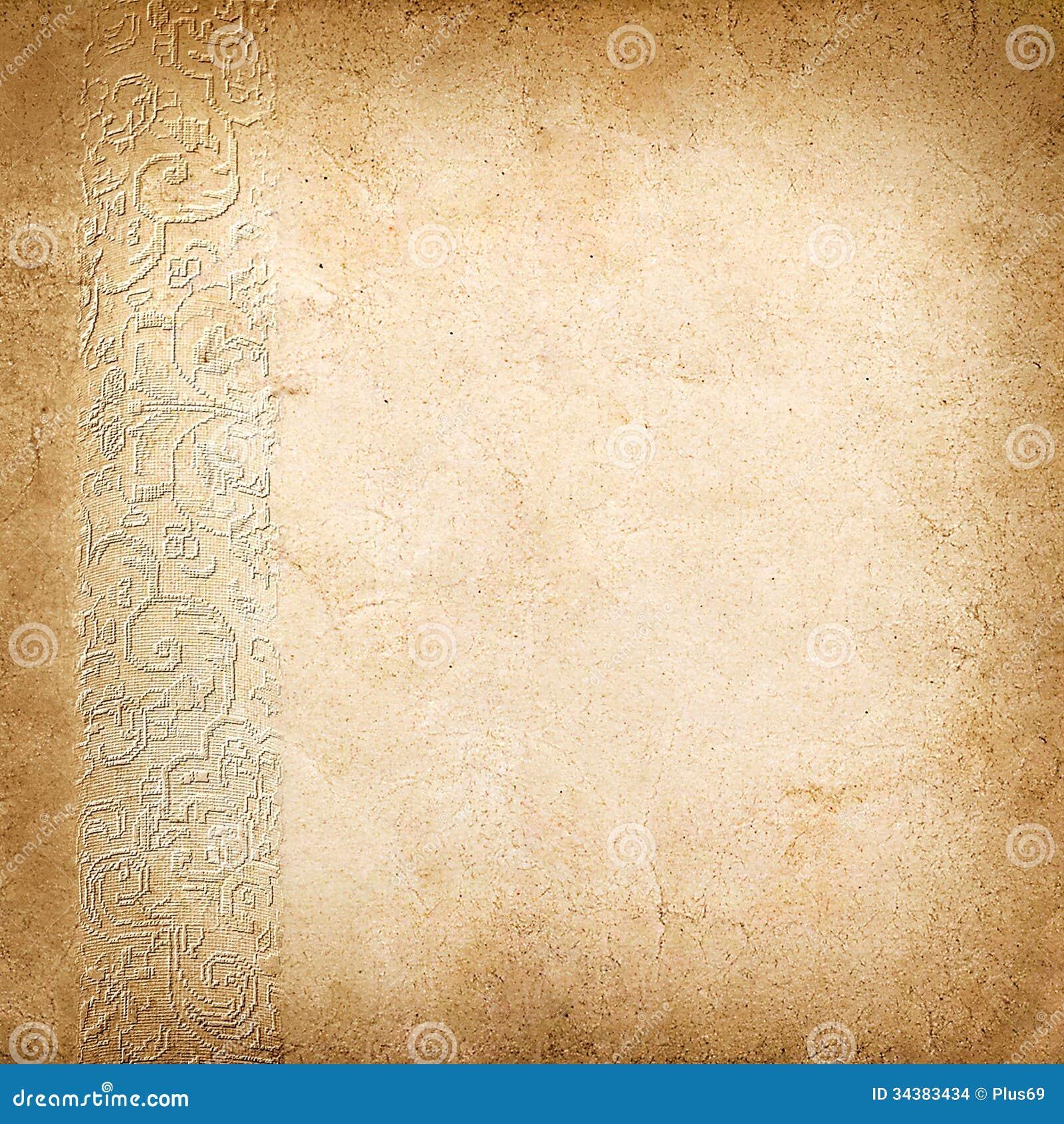 Fondo del vintage del papel viejo con el ornamento foto de for Papel decomural vintage