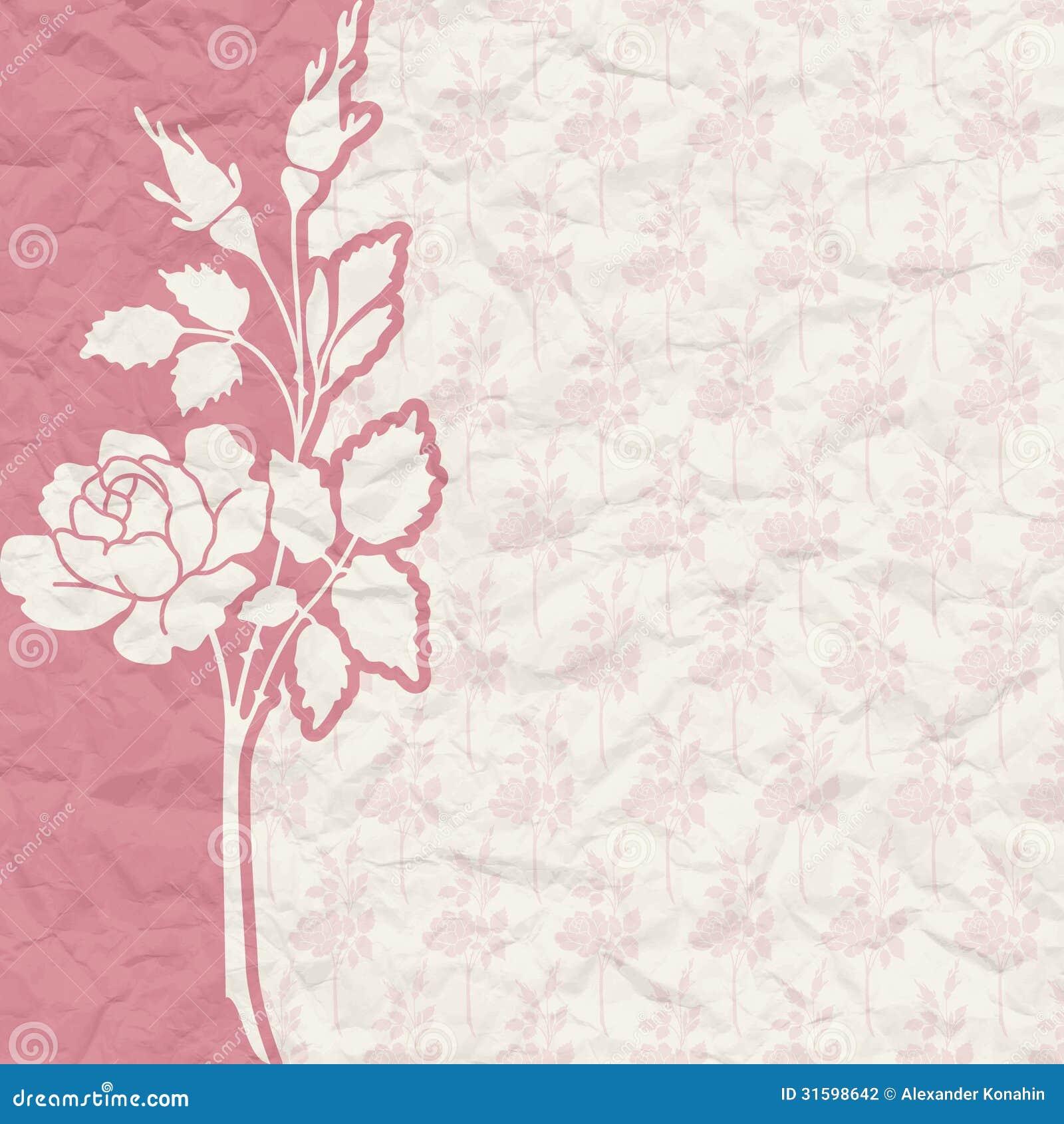 Matrimonio Catolico Sin Confirmacion : Fondo del vintage para la invitación con las flores