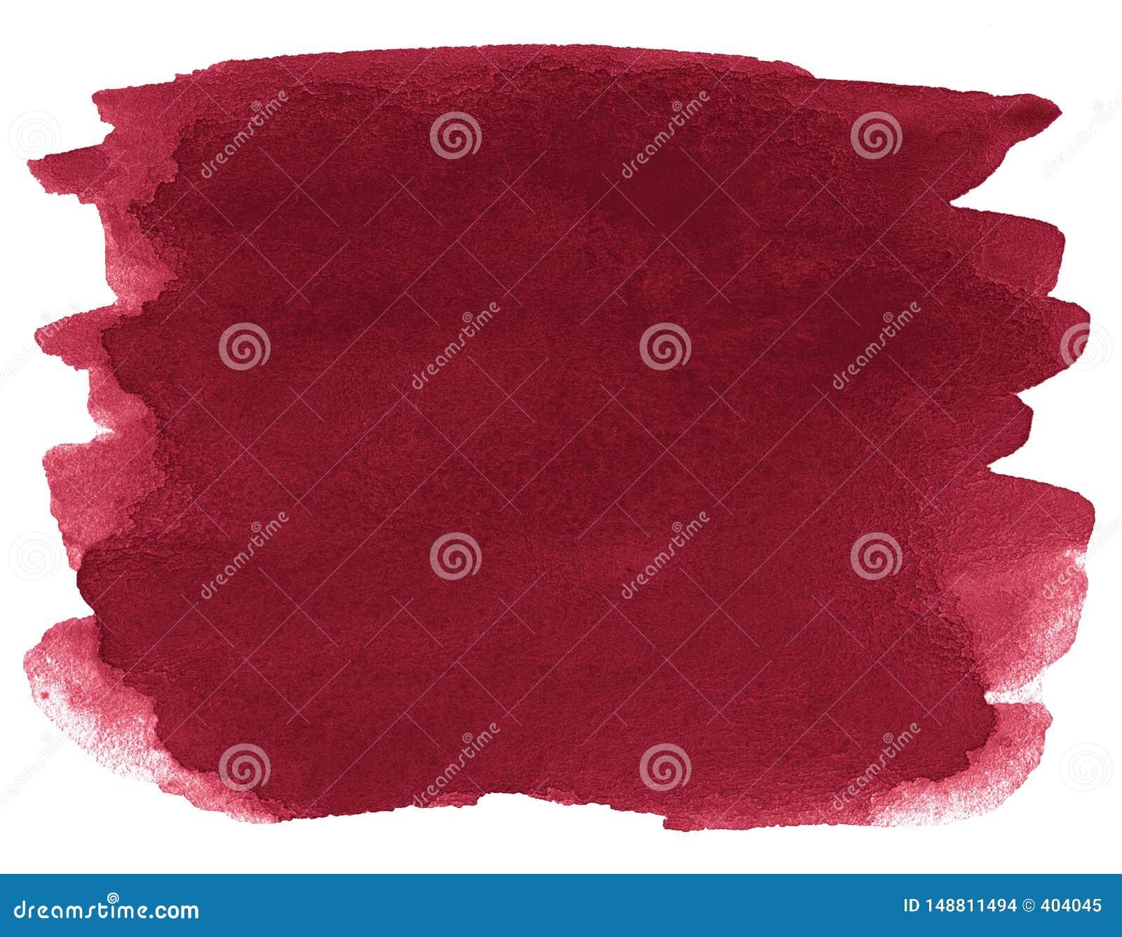 Fondo dell acquerello dei colori d avanguardia di rosso persiano con i confini ed i divorzi taglienti Macchie della spazzola dell