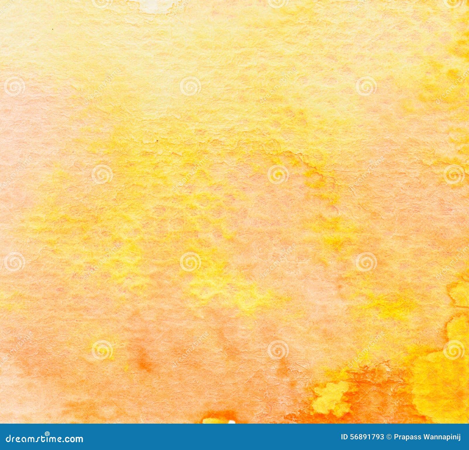 Fondo dell acquerello di giallo arancio di Brown